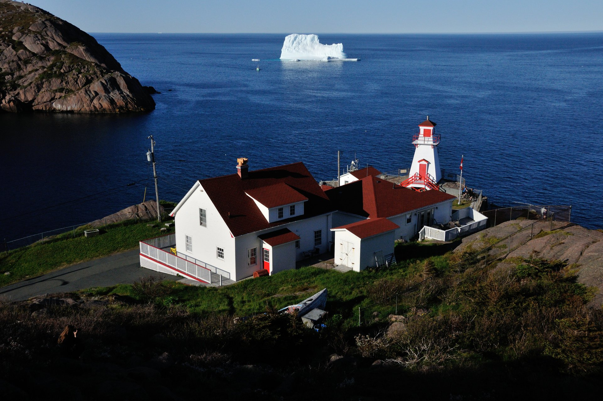 Fort Amherst Lighthouse station not far from St. John's 2020