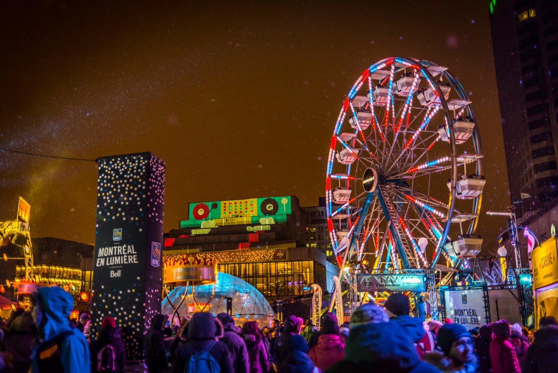 Best time for Montréal en Lumière in Montreal 2020