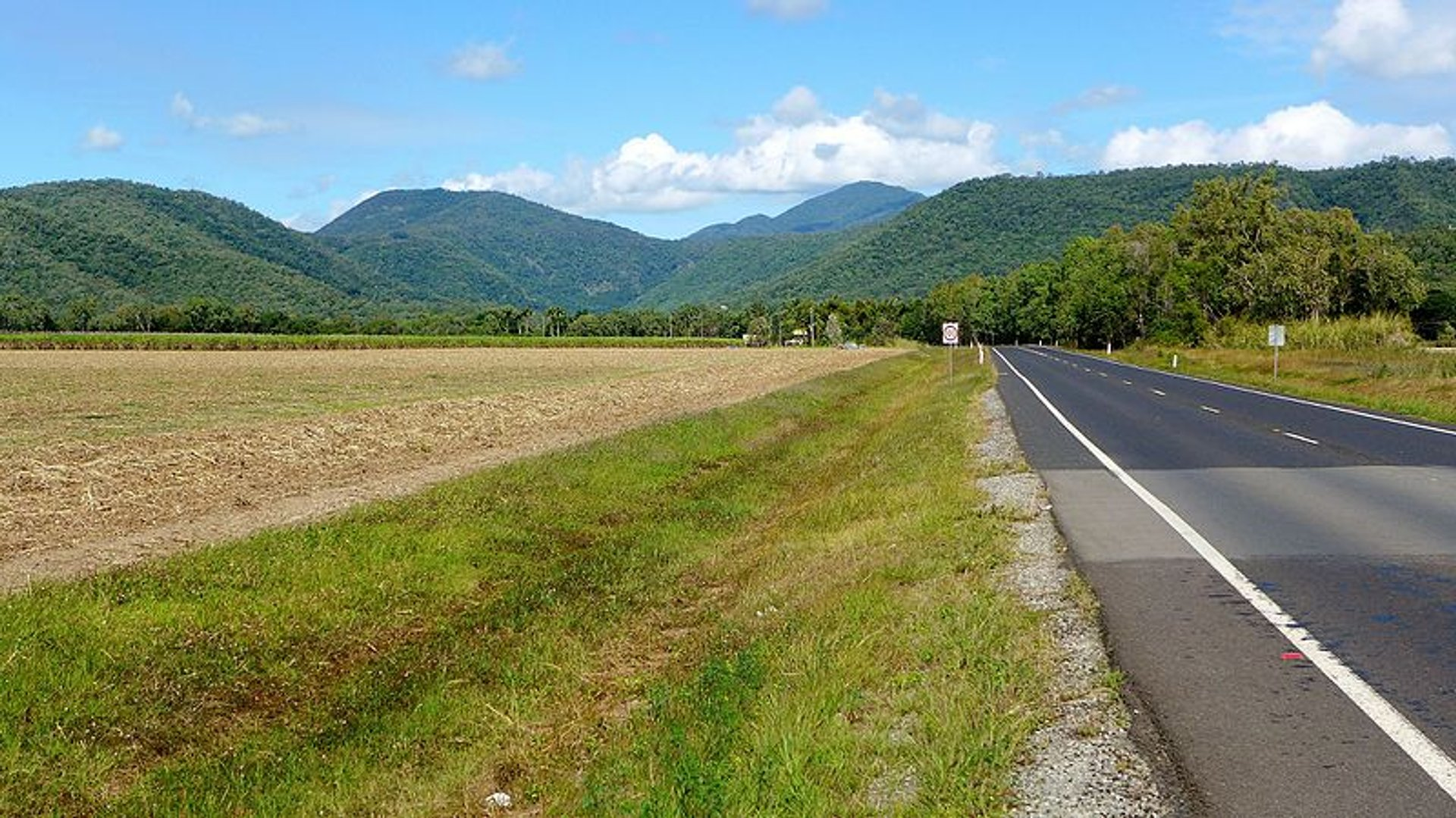 View of the Captain Cook Highway looking south towards Mowbray 2020