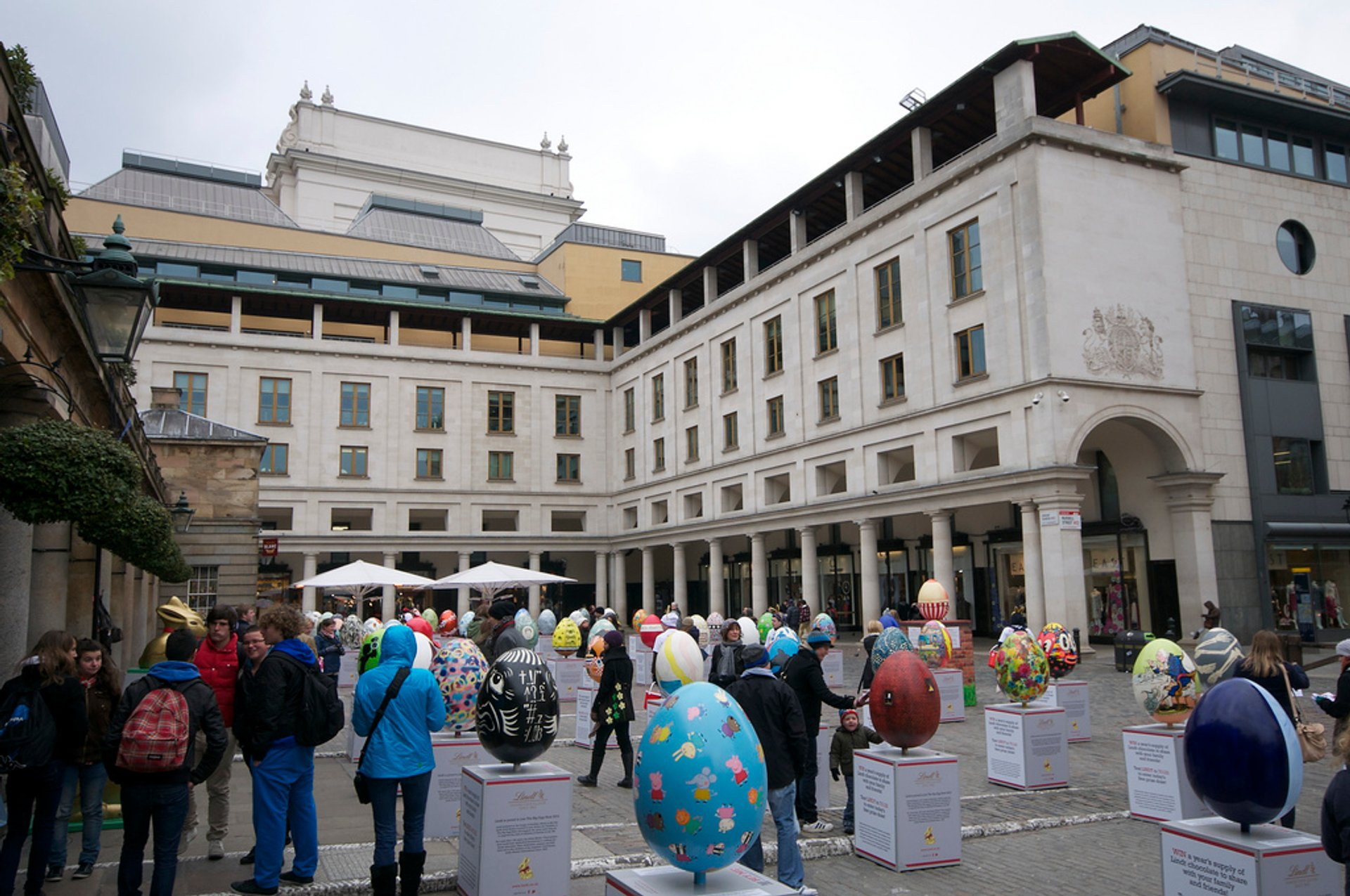 Lindt Big Egg Hunt in London's Covent Garden 2019