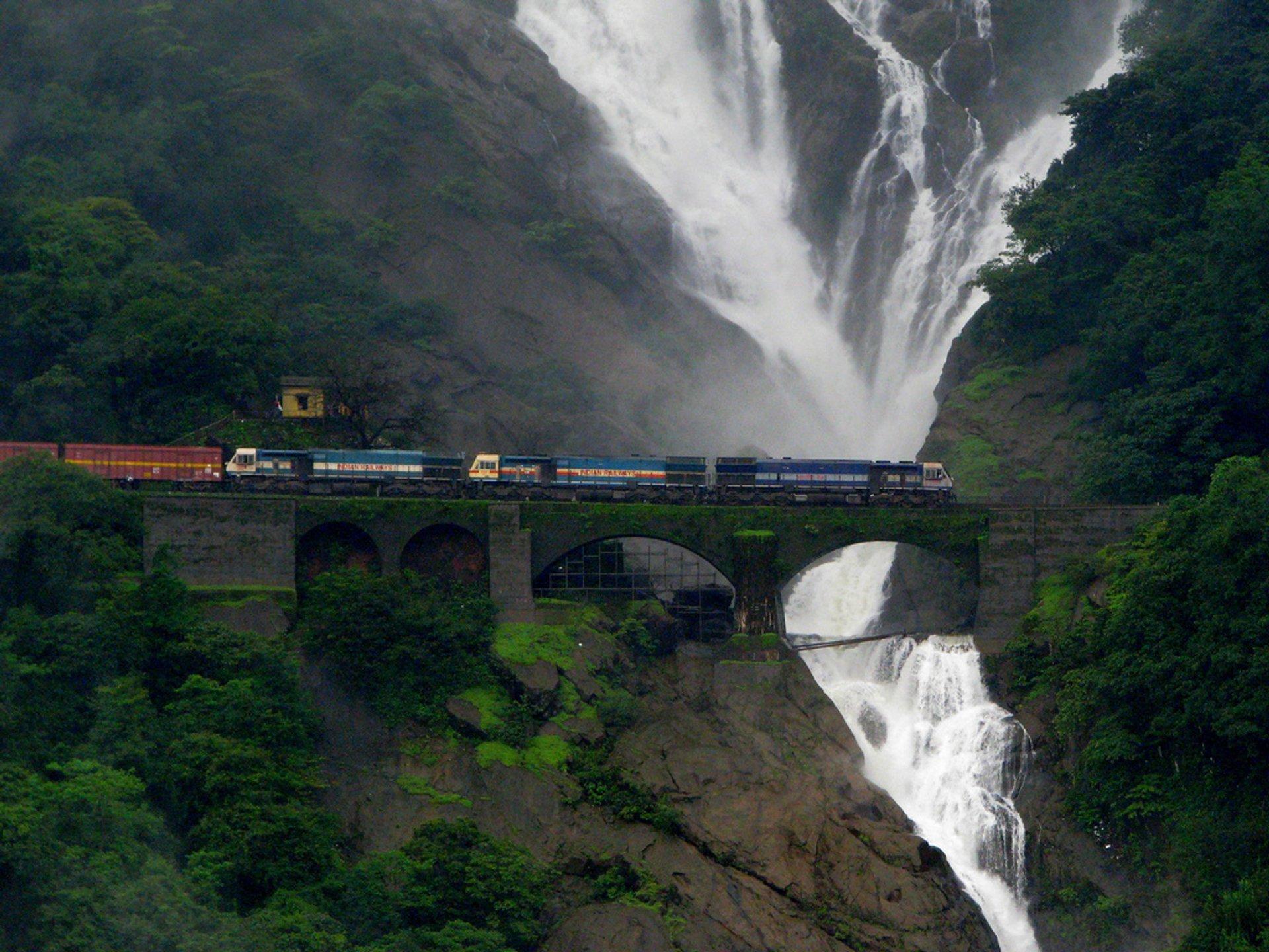Waterfalls at Peak Flow in Goa 2020 - Best Time