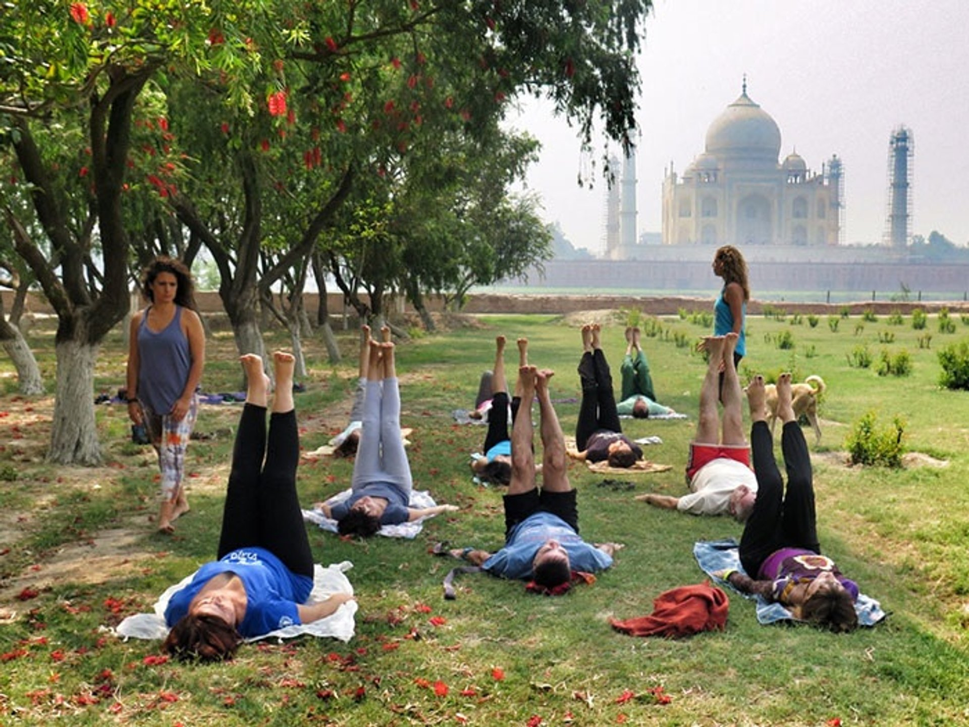 Yoga Classes Facing Taj Mahal in Taj Mahal and Agra  - Best Season 2020