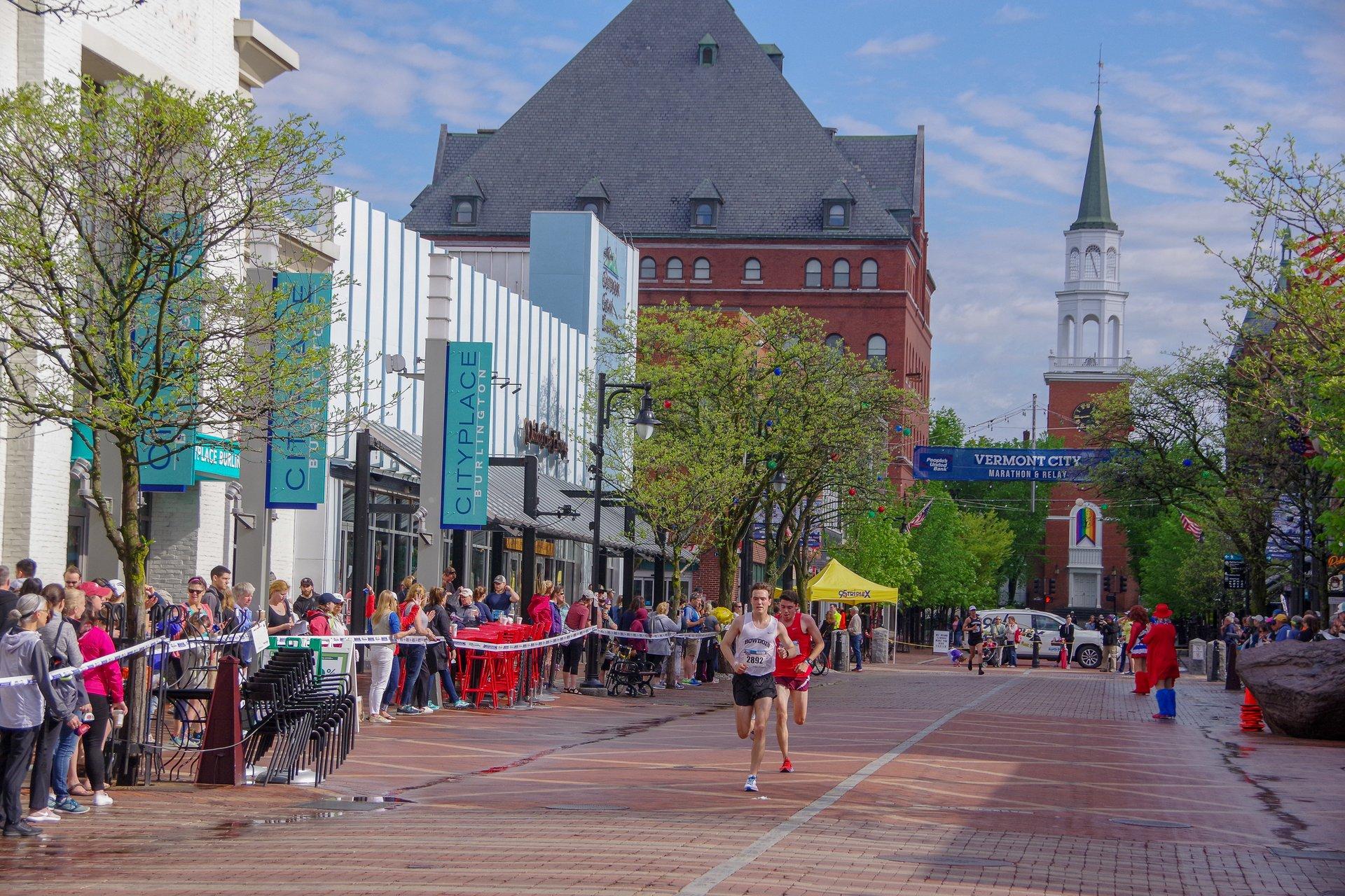 Vermont City Marathon on Church Street, Burlington 2020