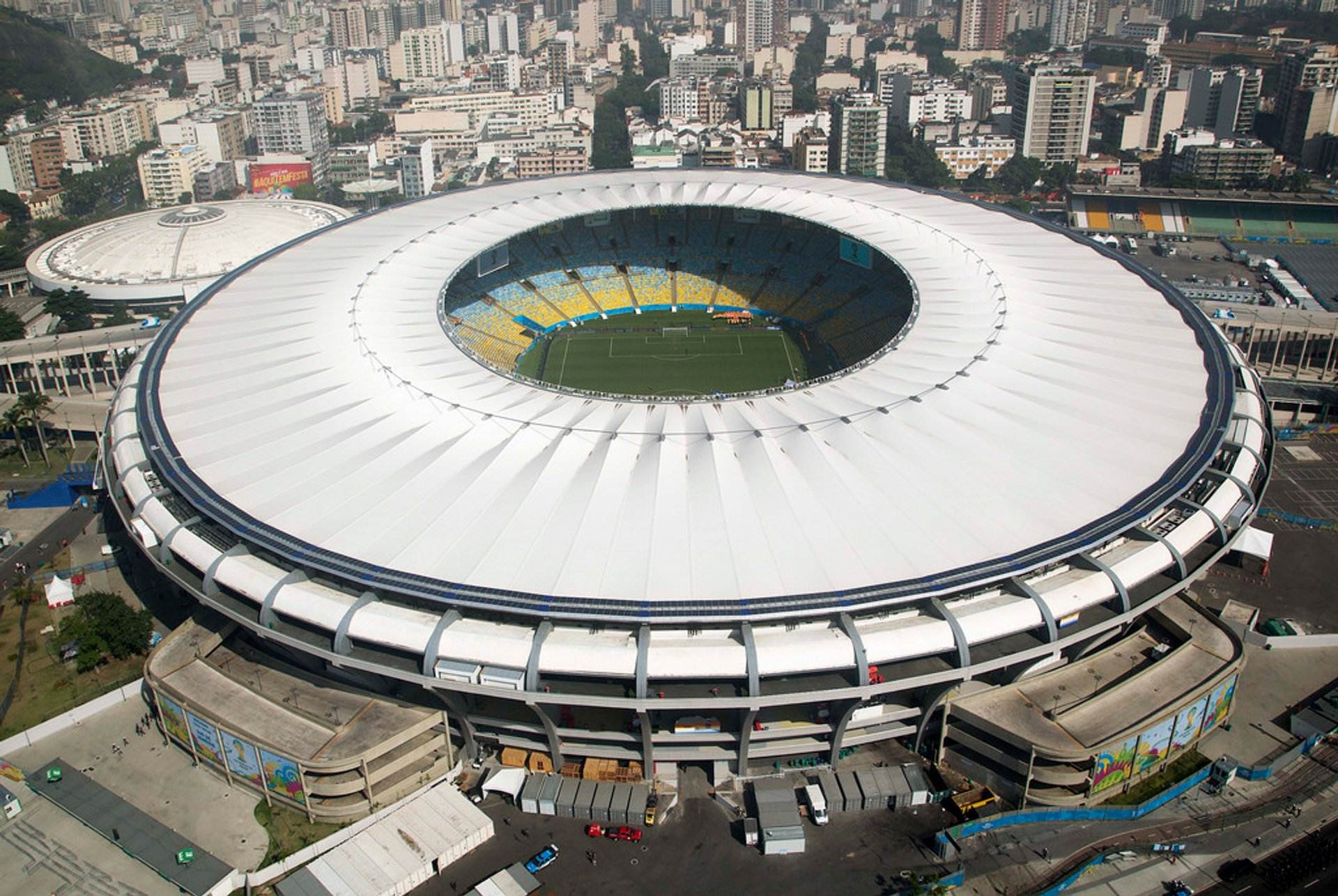 The stadium exterior 2020