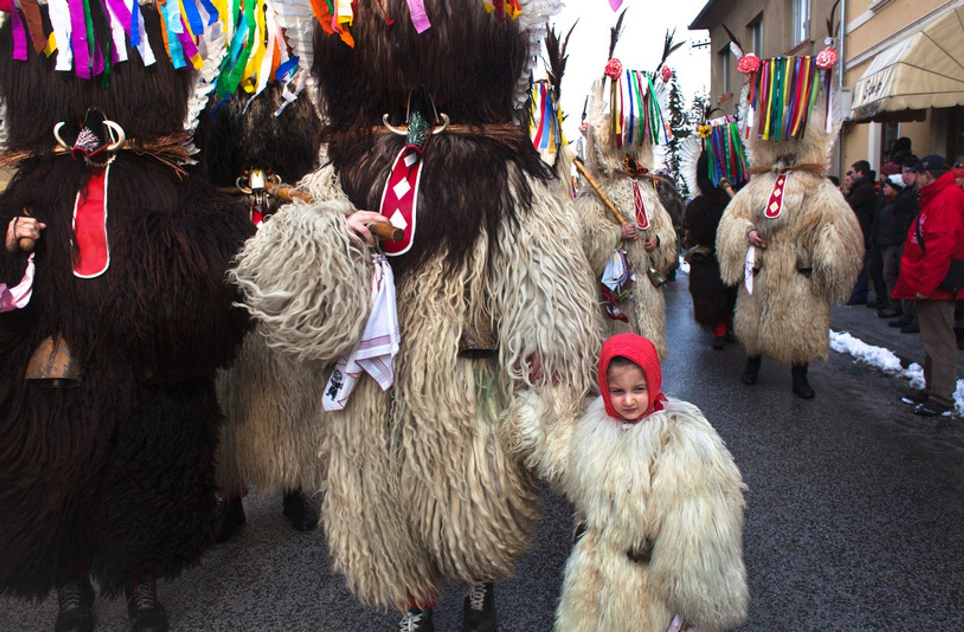 Best time for Pust Carnival in Cerknica in Slovenia 2020