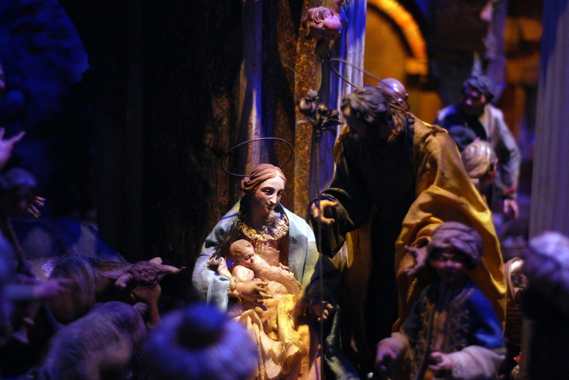 Presepe (nativity scene). Chiesa Madonna del Pozzo, Rome (Santa Maria in Via) 2020
