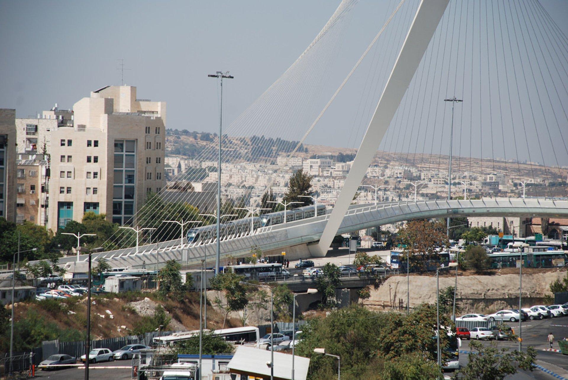 Bridge of Strings (Jerusalem Chords Bridge) in Jerusalem - Best Season