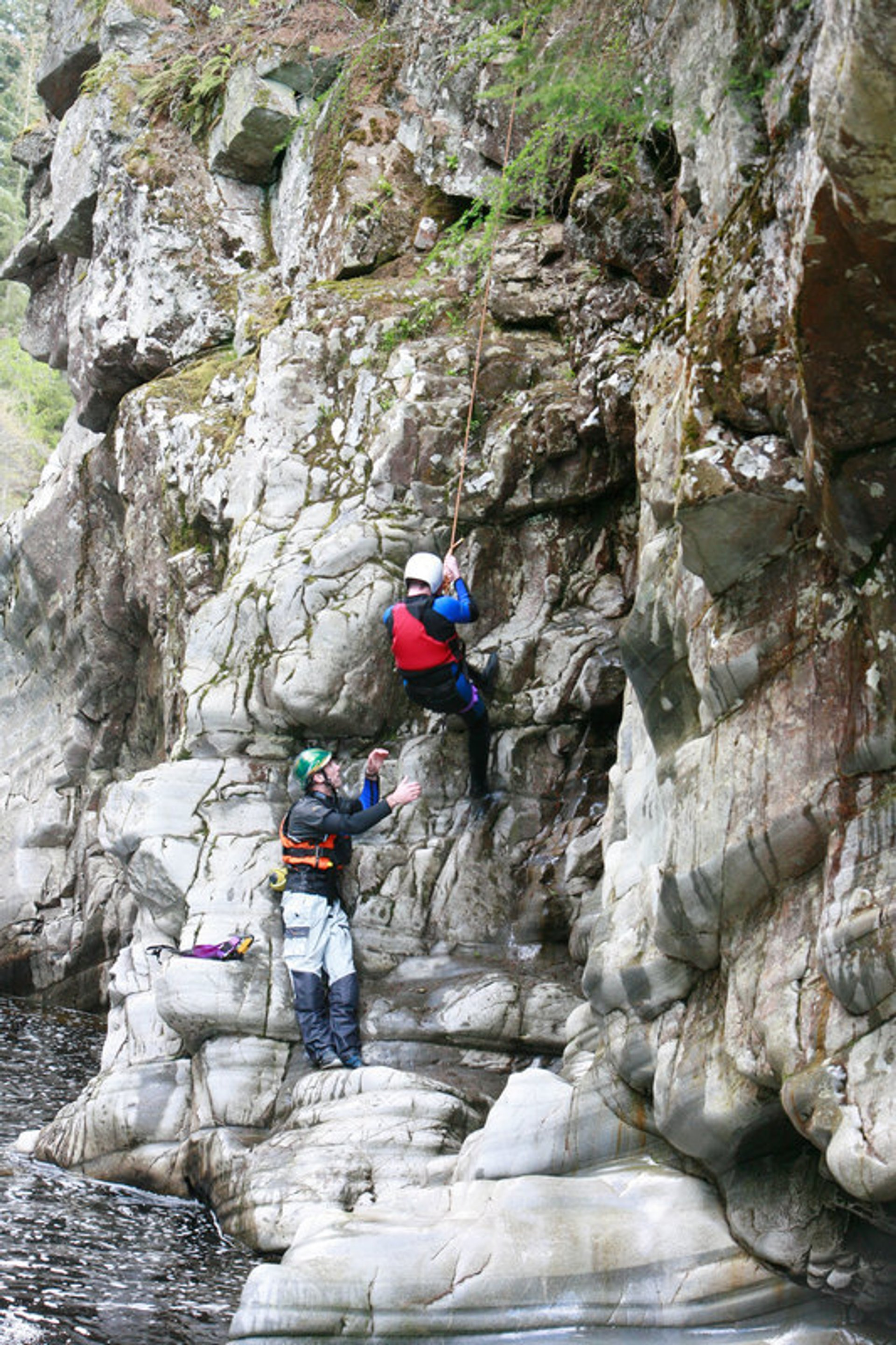 Canyoning in the River Garry Gorge at Calvine, Perthshire  2020