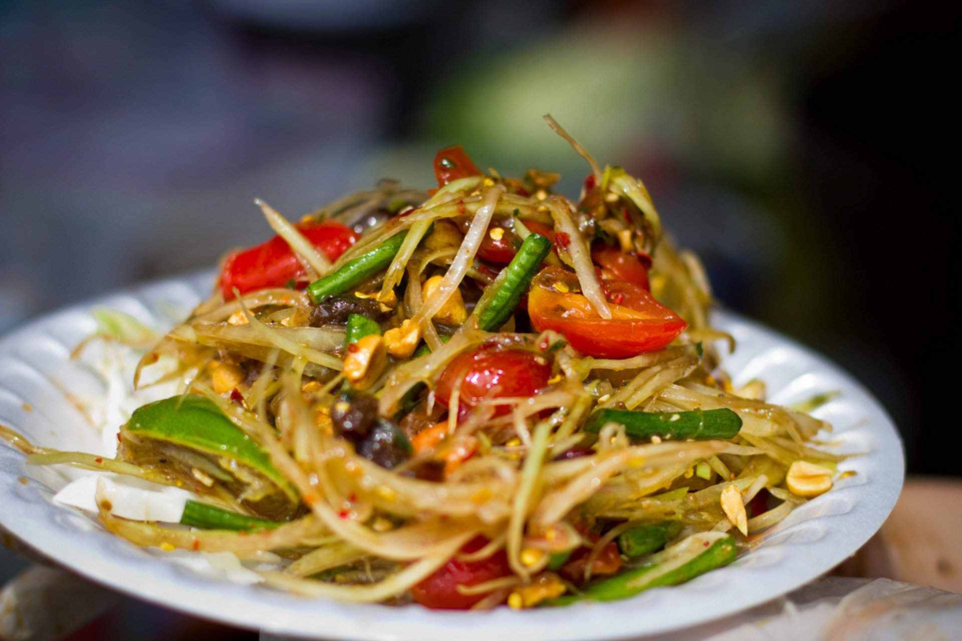 Tam Mak Houng or Papaya Salad in Laos 2020 - Best Time
