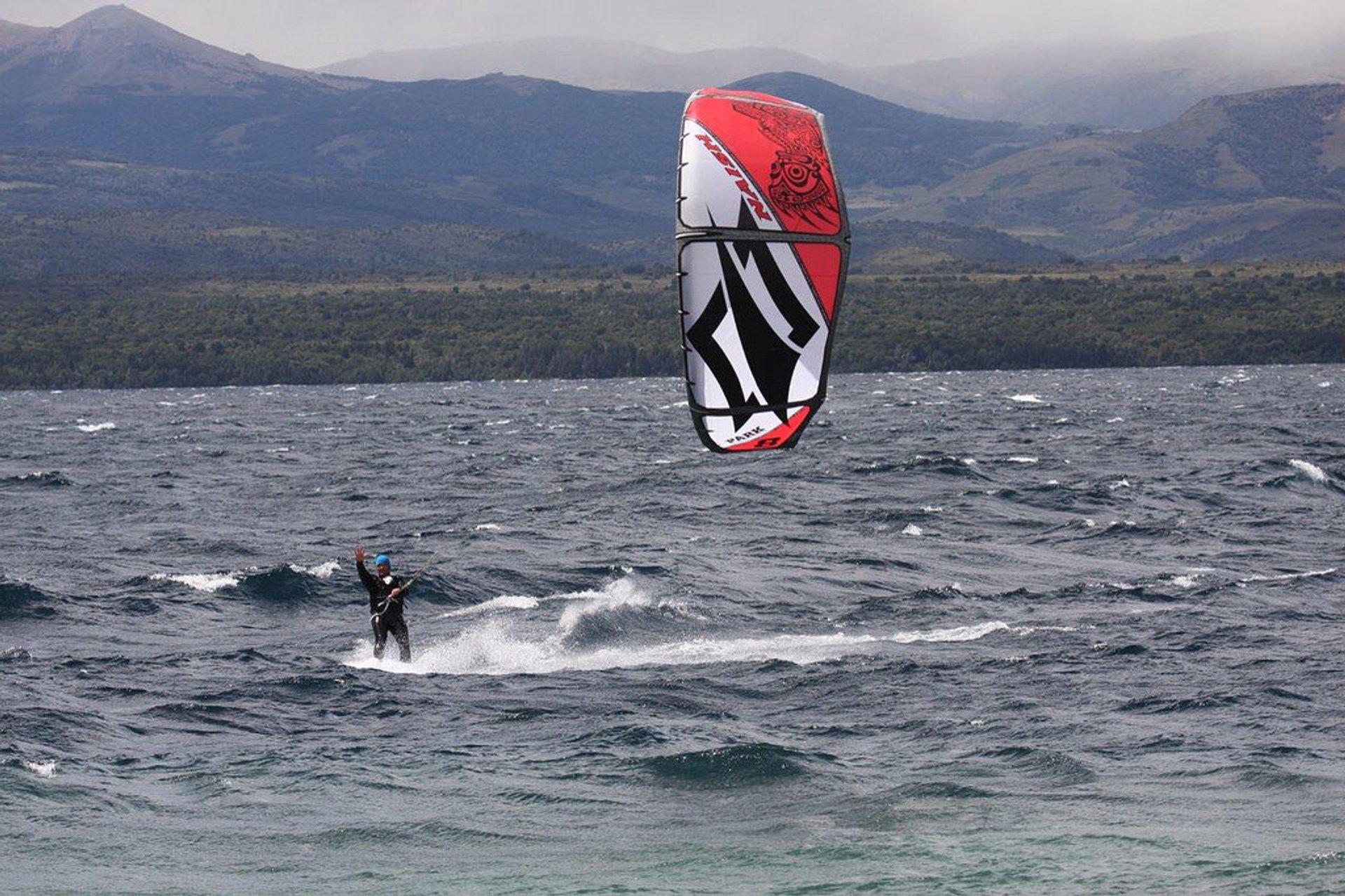 Kitesurfing on Nahuel Huapi in Argentina - Best Season 2020