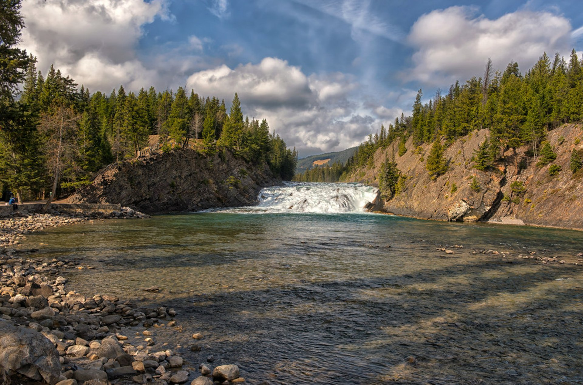 Best time for Bow Falls in Banff & Jasper National Parks 2020