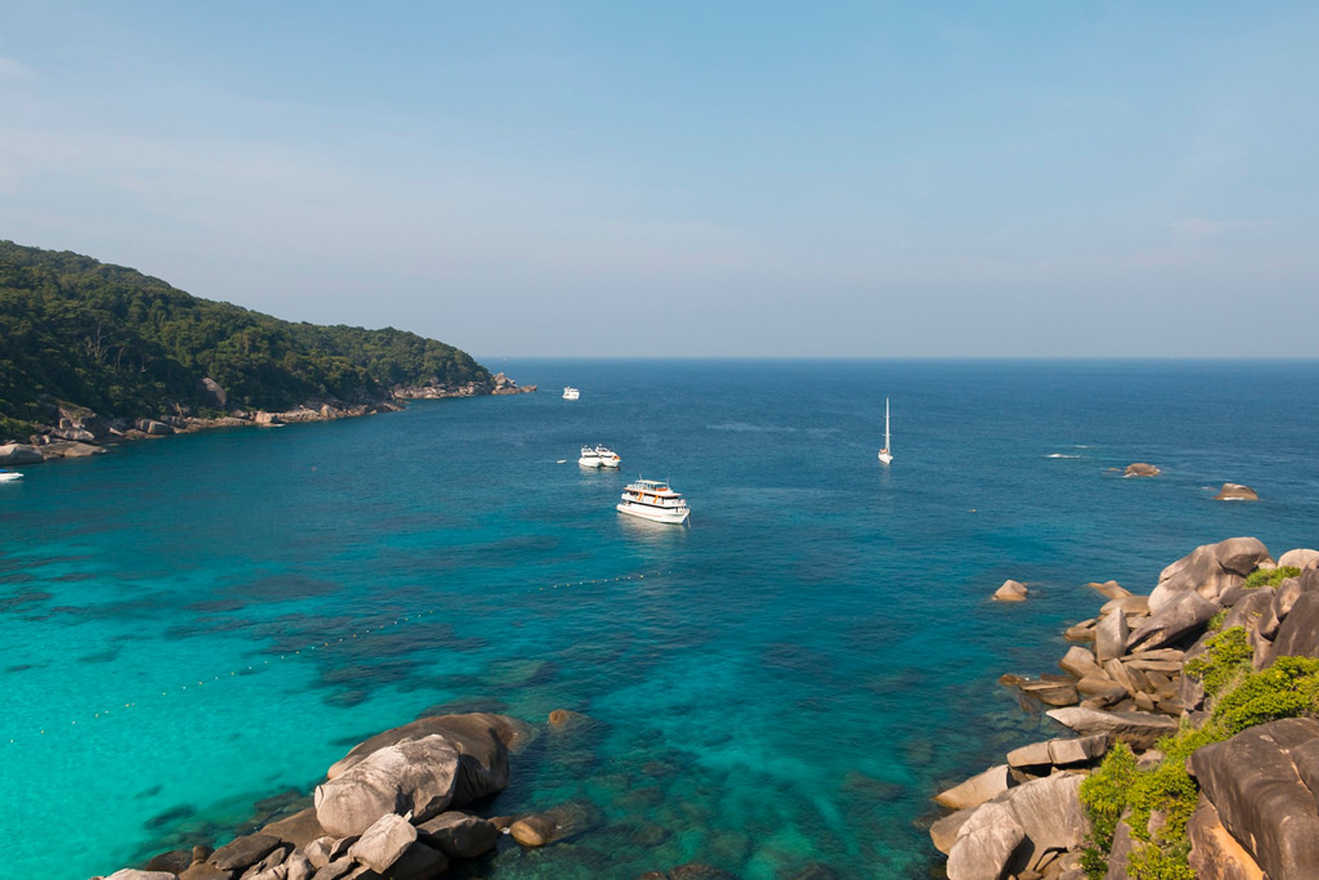Similan islands by yacht 2019