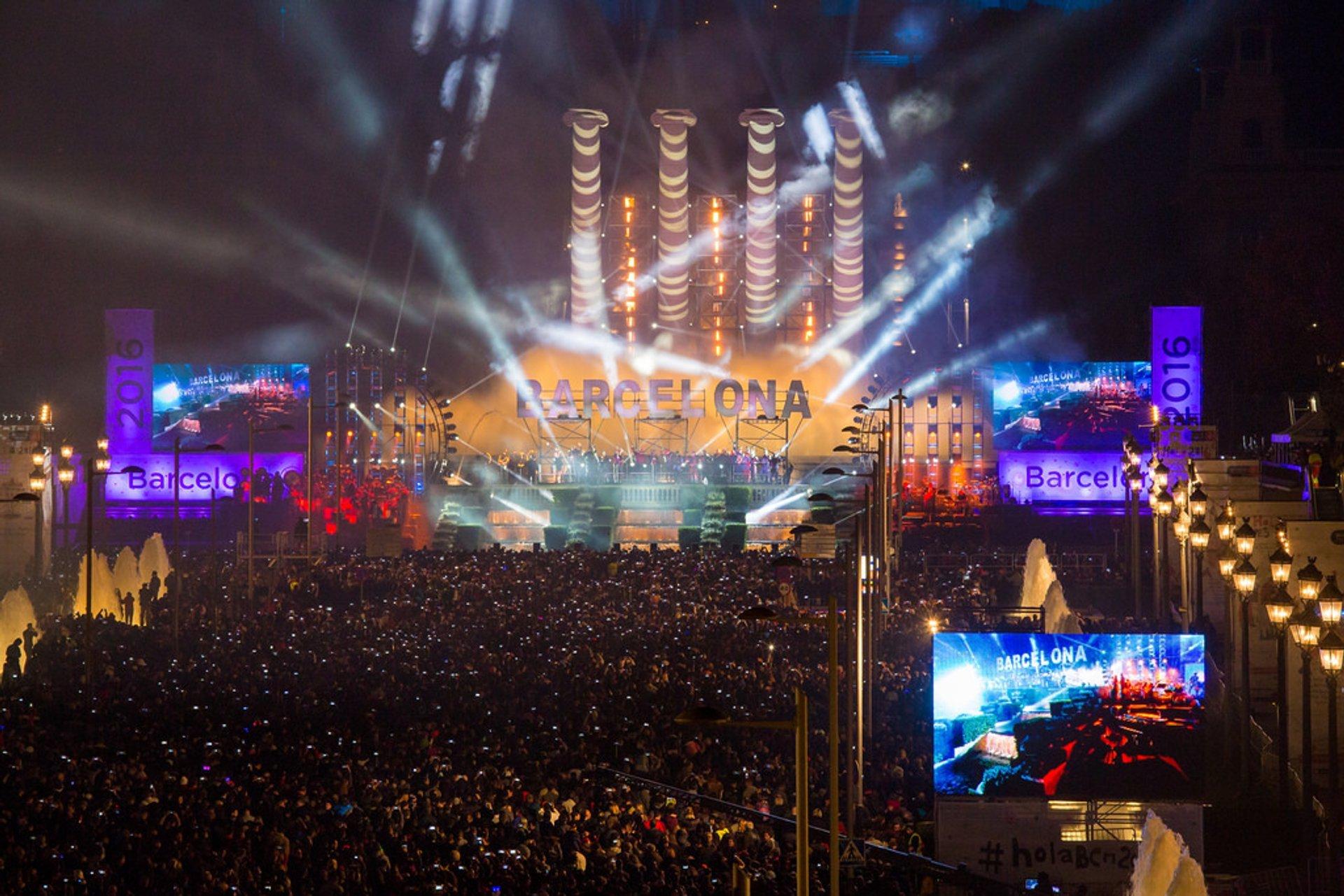 Nochevieja in Barcelona 2019