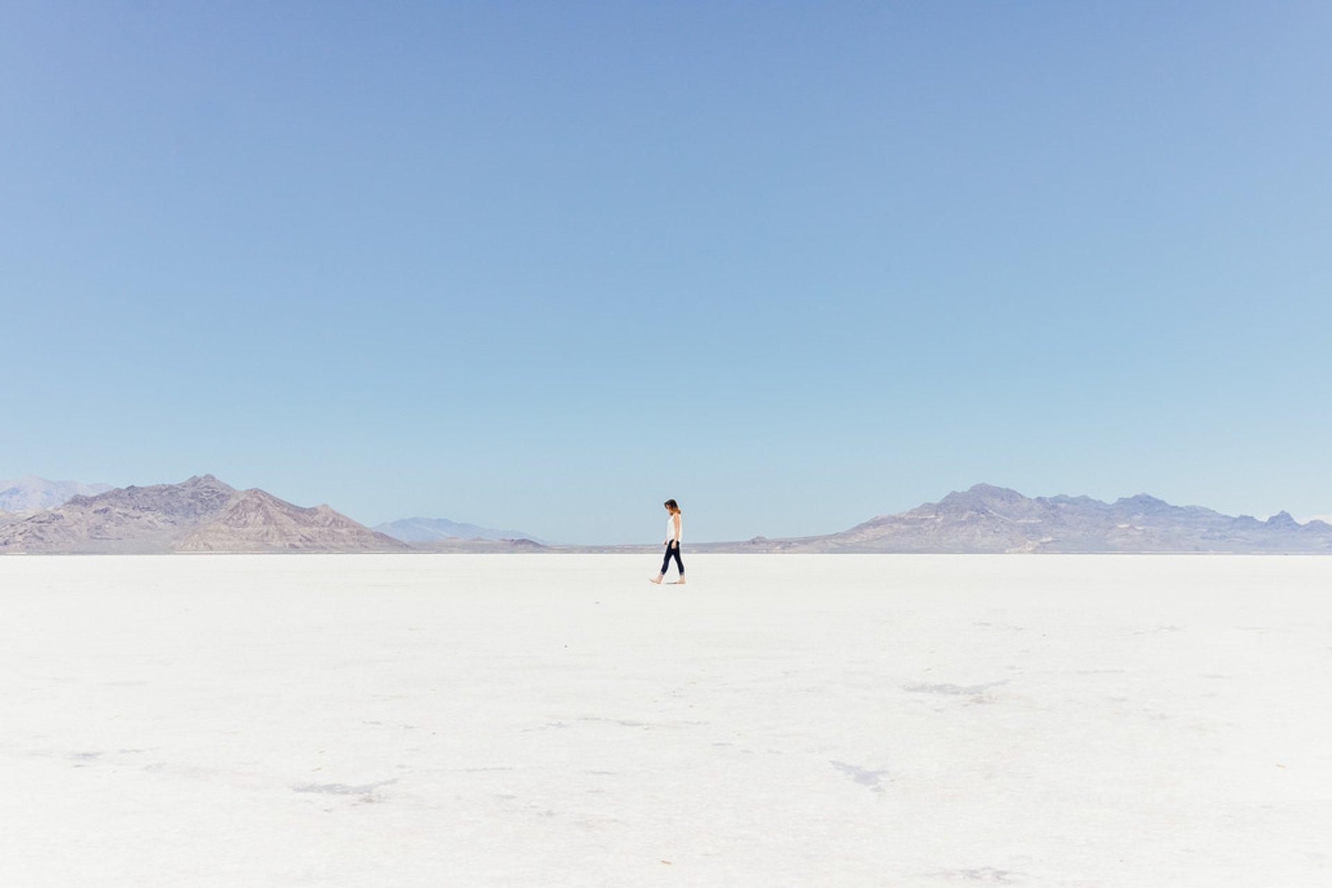 Dry Bonneville Salt Flats in Utah 2020 - Best Time