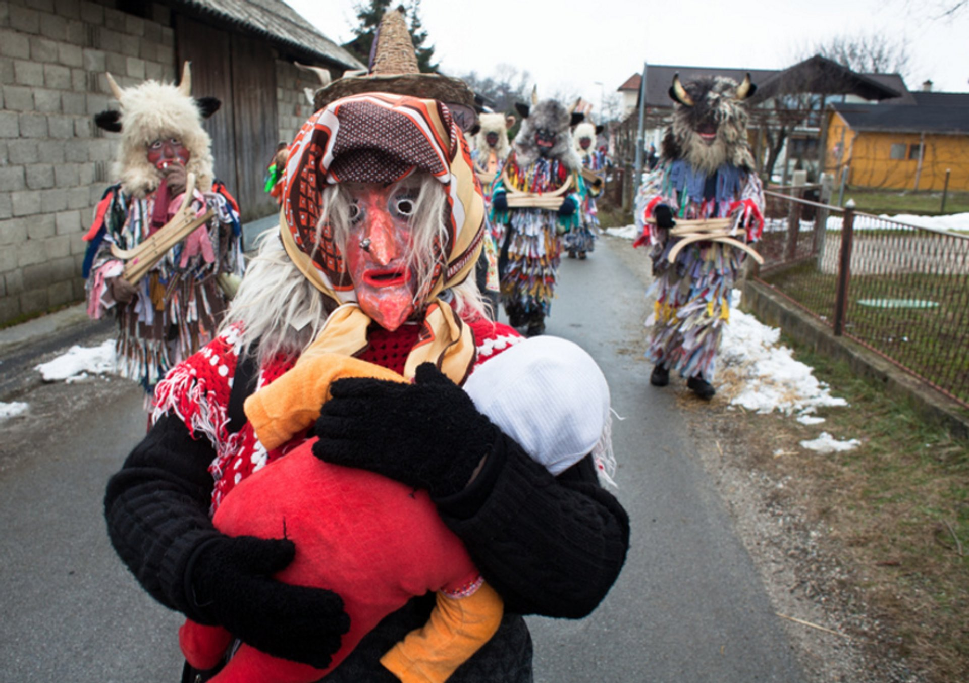 Best time to see Pust Carnival in Cerknica in Slovenia