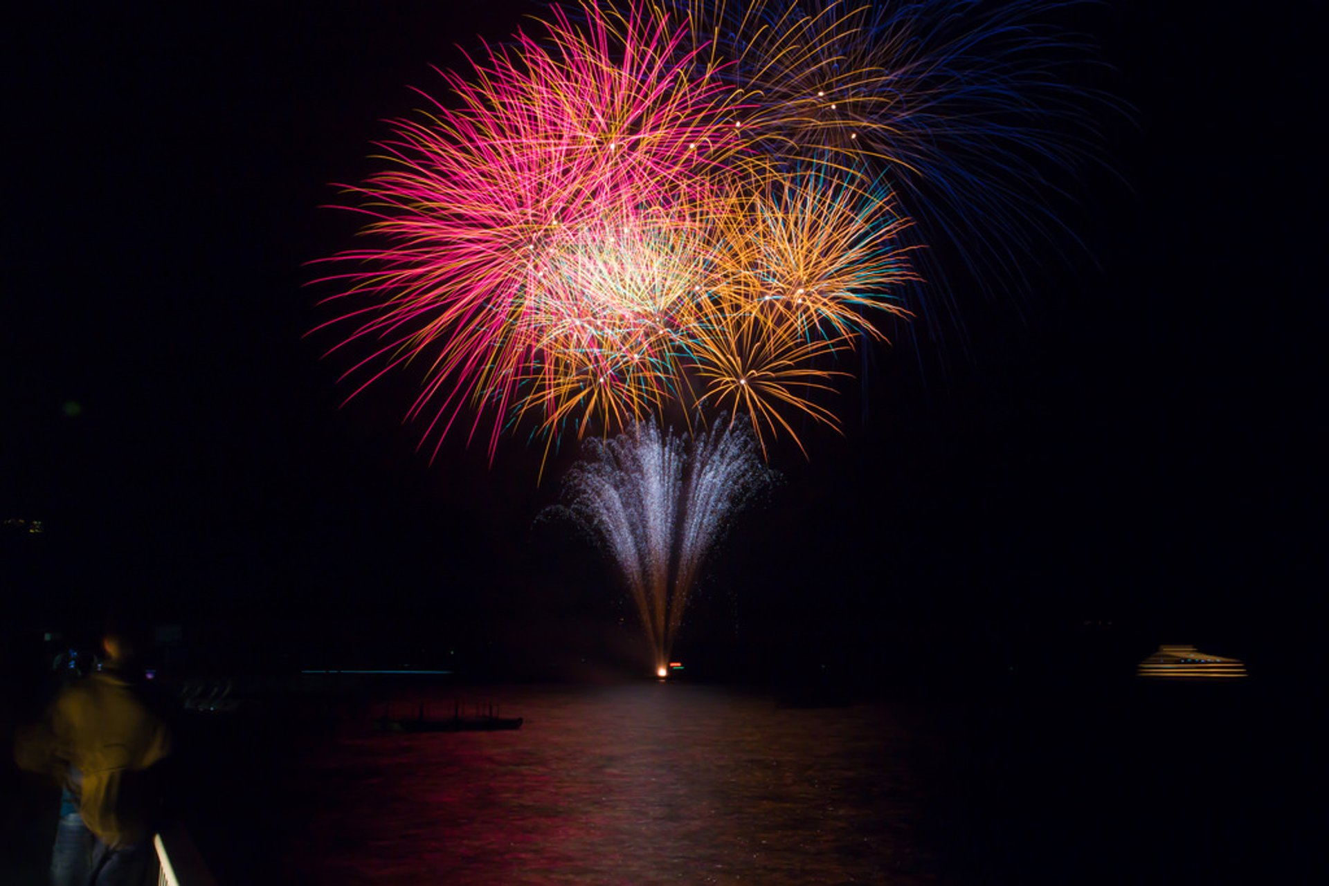 Fireworks on Lake Toyako in Japan - Best Season 2019