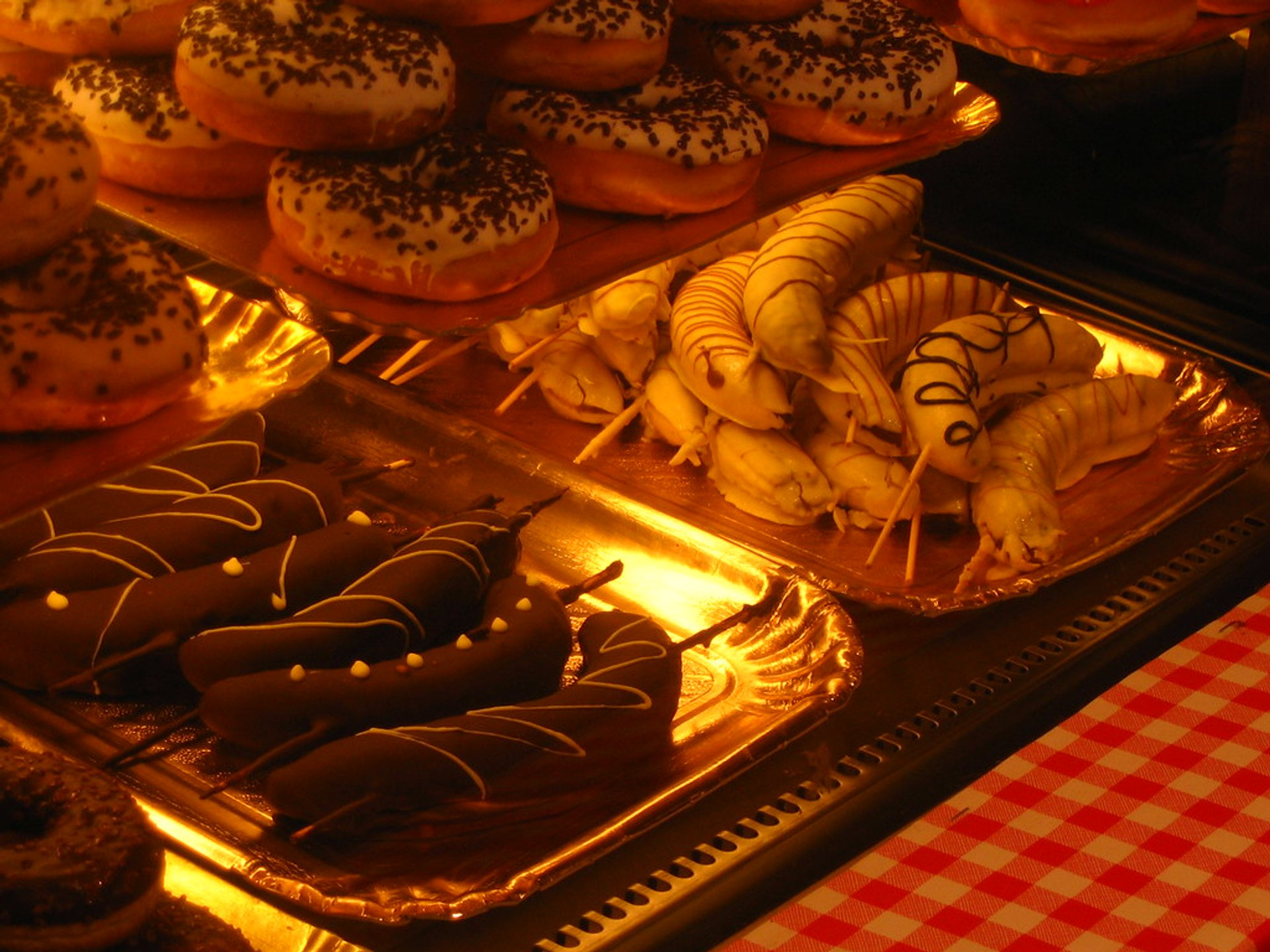 Christmas market food in Montreux 2020