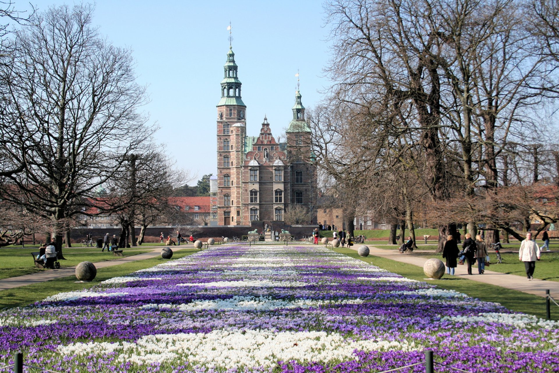 Best time to see Crocus Blooming at Rosenborg Castle in Copenhagen 2020