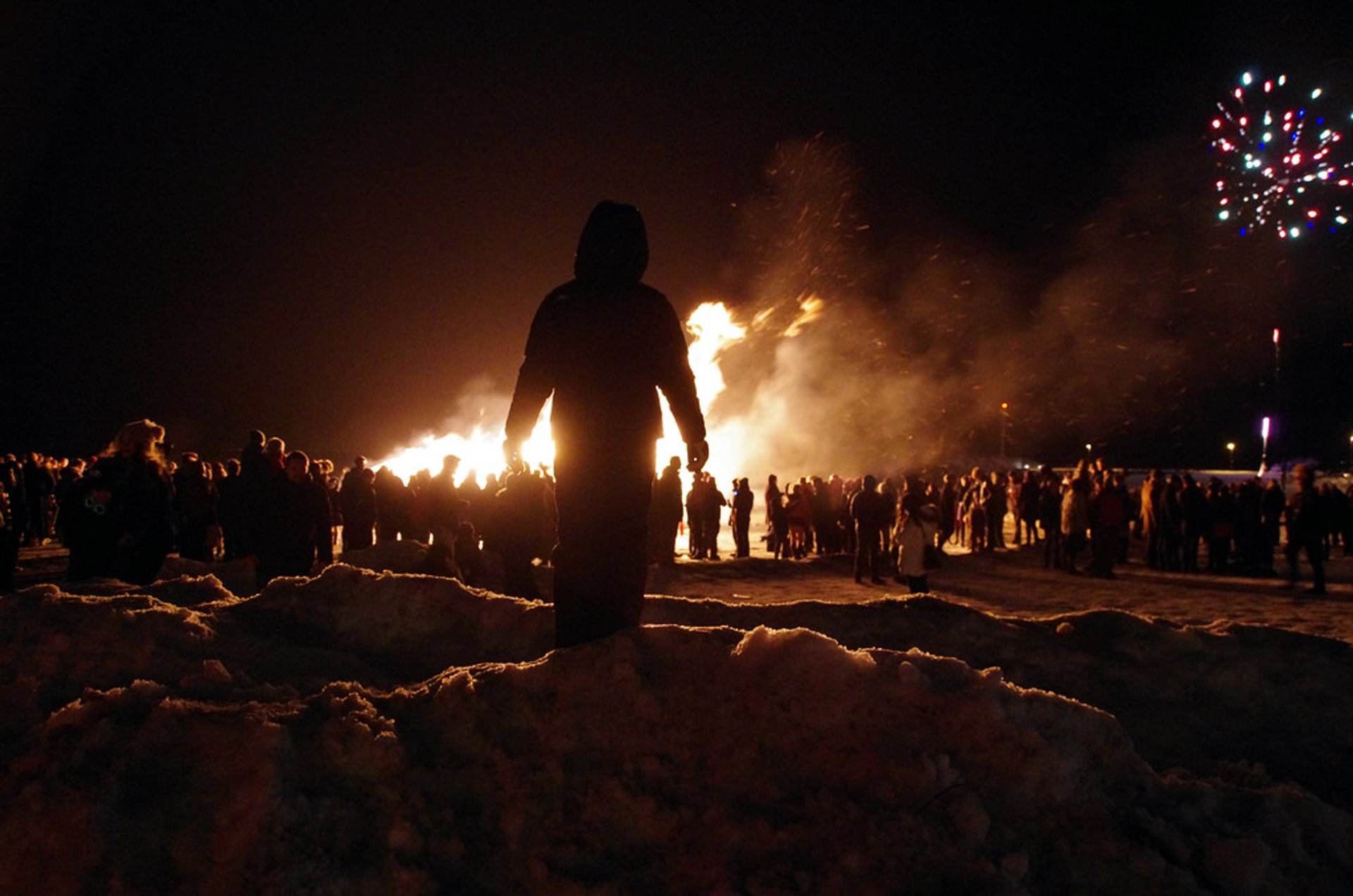 Best time to see New Year's Bonfires in Reykjavik 2019