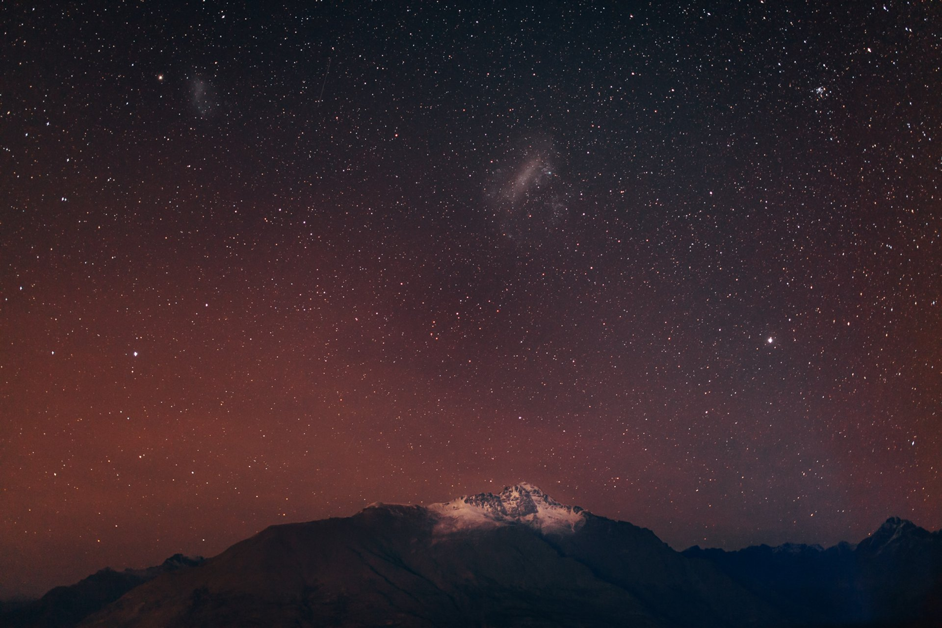 Stars under night sky. Queenstown, Otago, New Zealand 2019