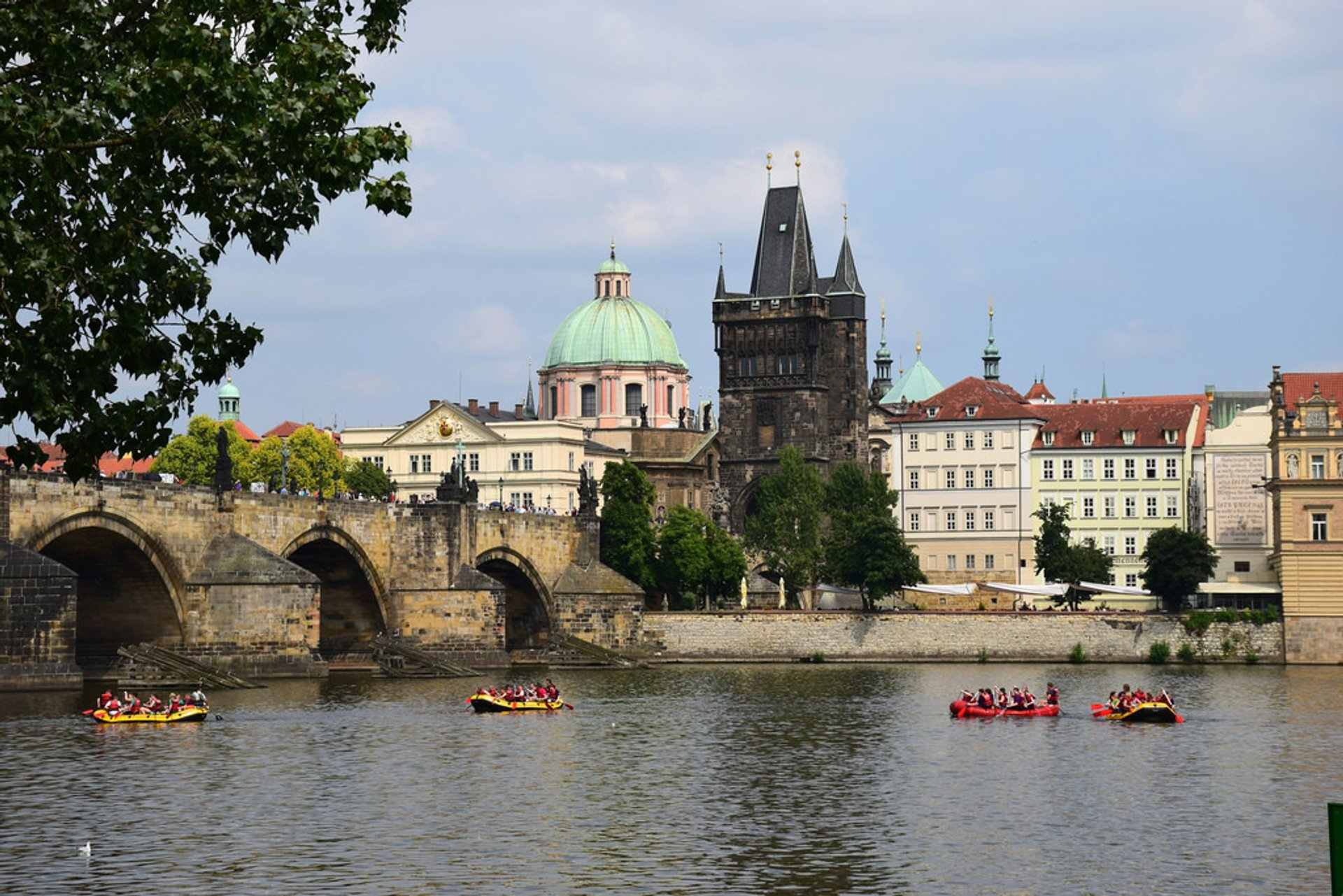 Rafting on the Vltava in Prague 2019