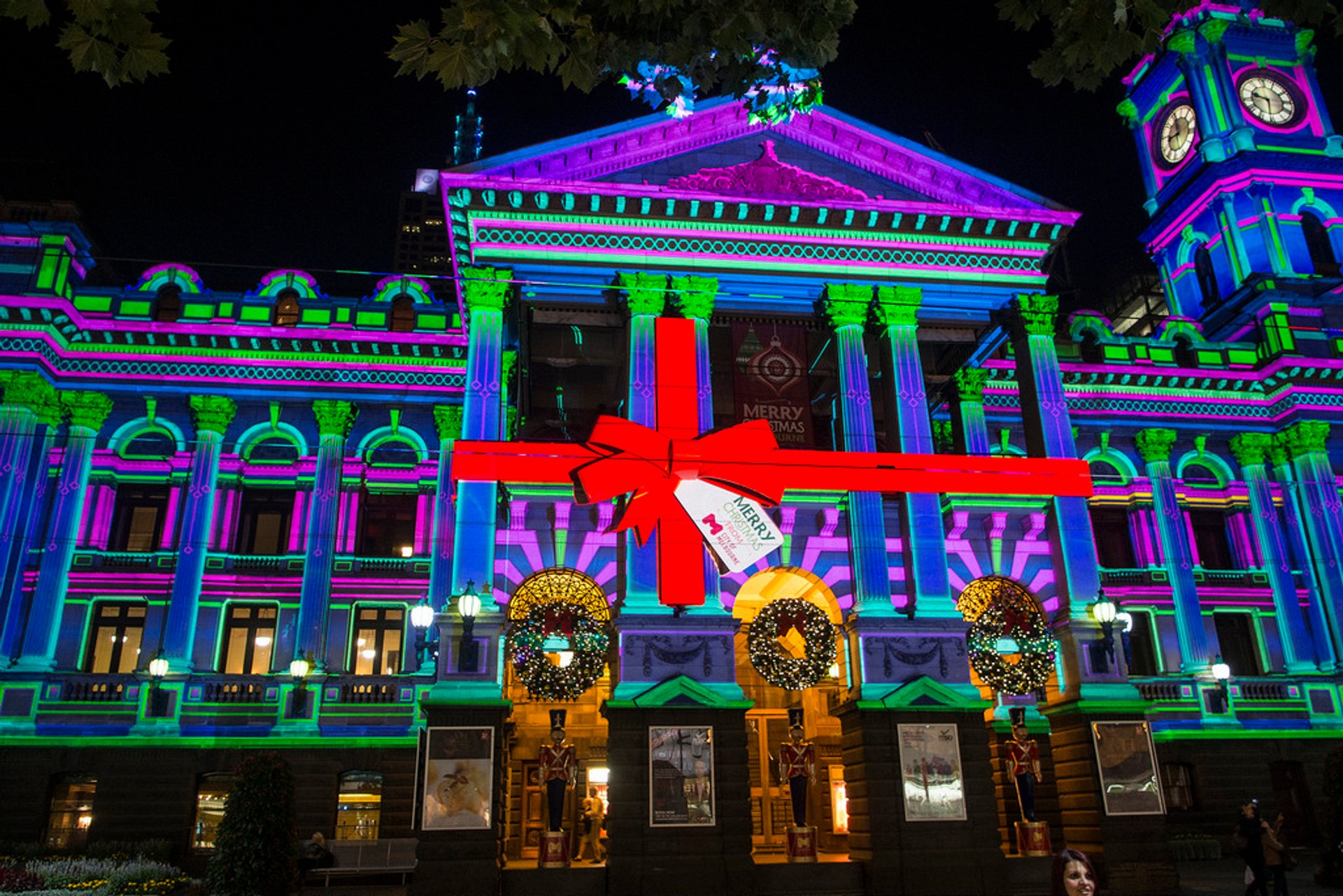 Winter illuminations at Melbourne Town Hall 2020