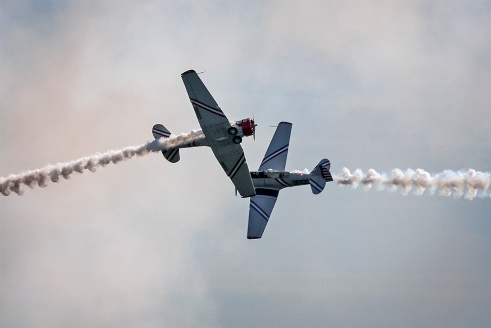 GEICO Skytypers perform during rehearsal at the Baltimore Fleet Week Air Show 2020