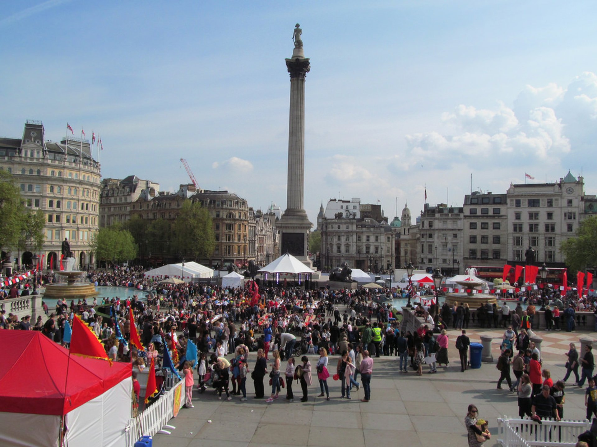 Feast of St George in Trafalgar Square in London - Best Season 2020