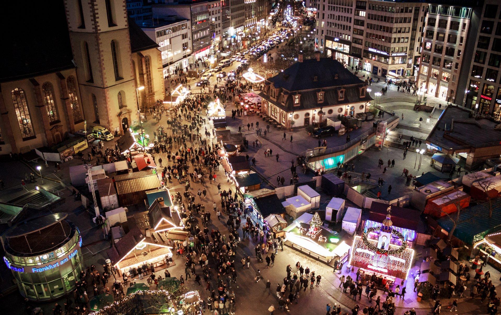 Frankfurt Christmas Market at Hauptwache 2020