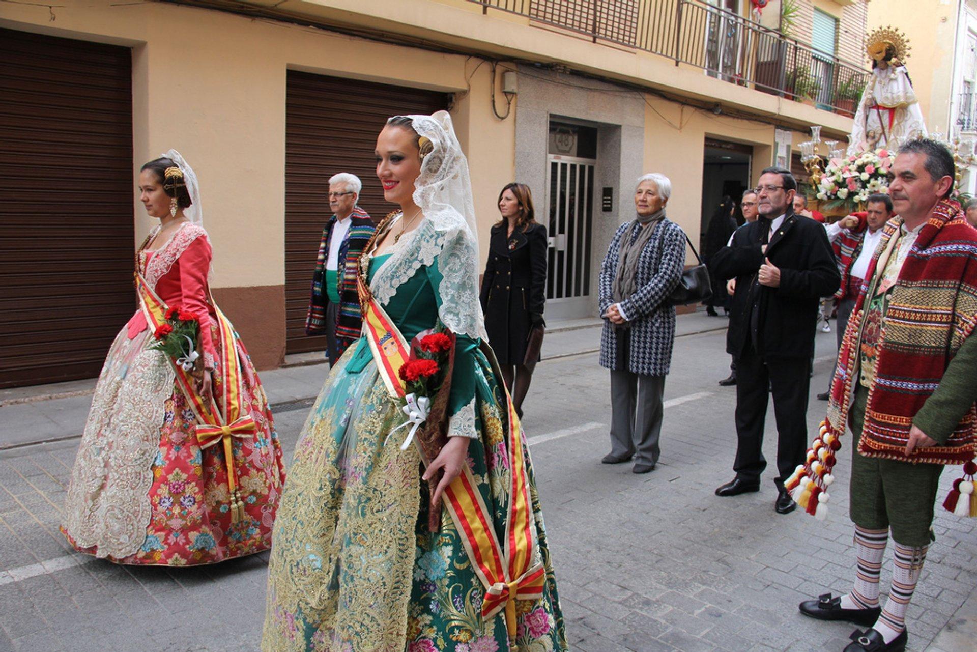 Best time for Virgen de los Desamparados in Valencia
