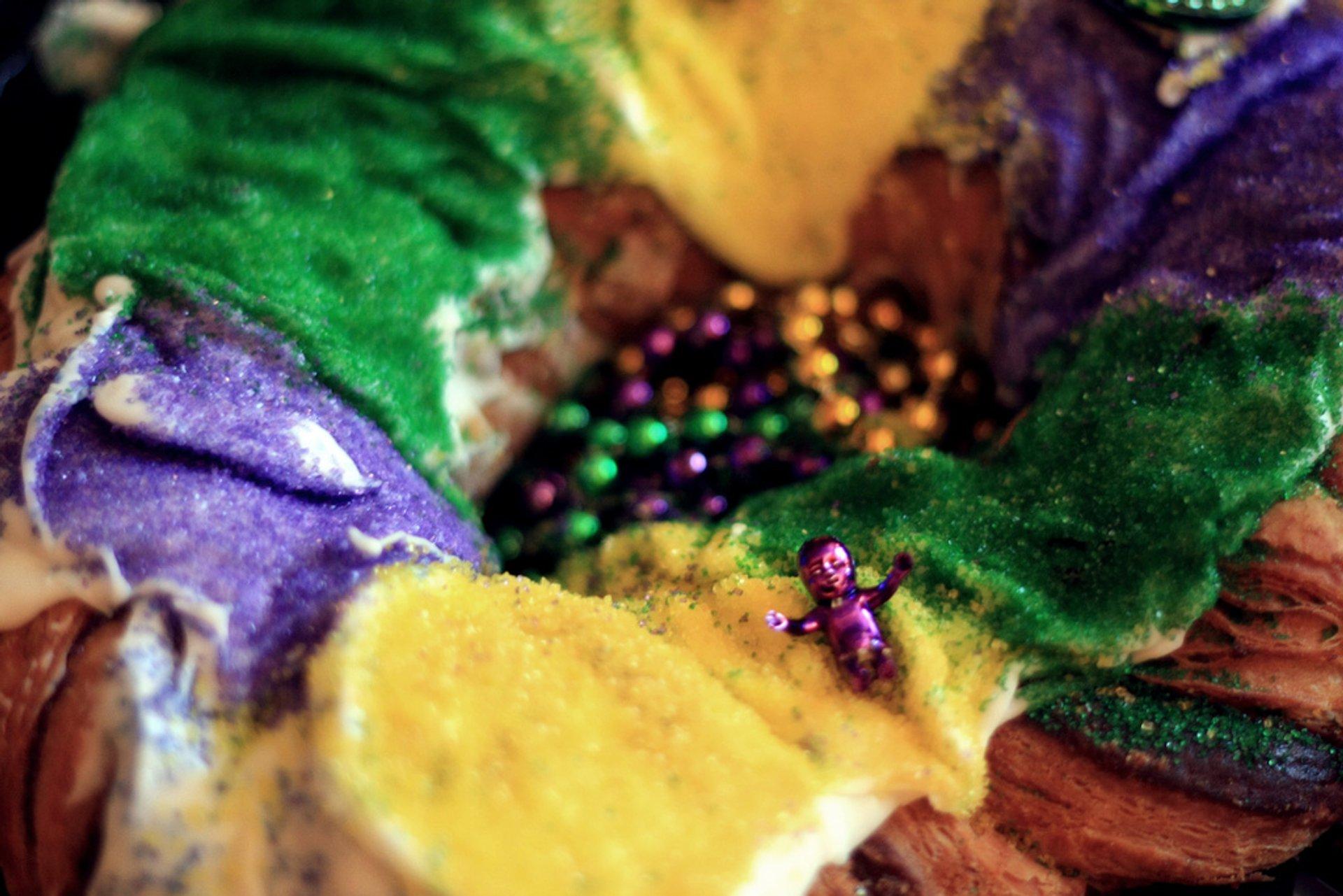 Mardi Gras King Cake in New Orleans - Best Season 2020