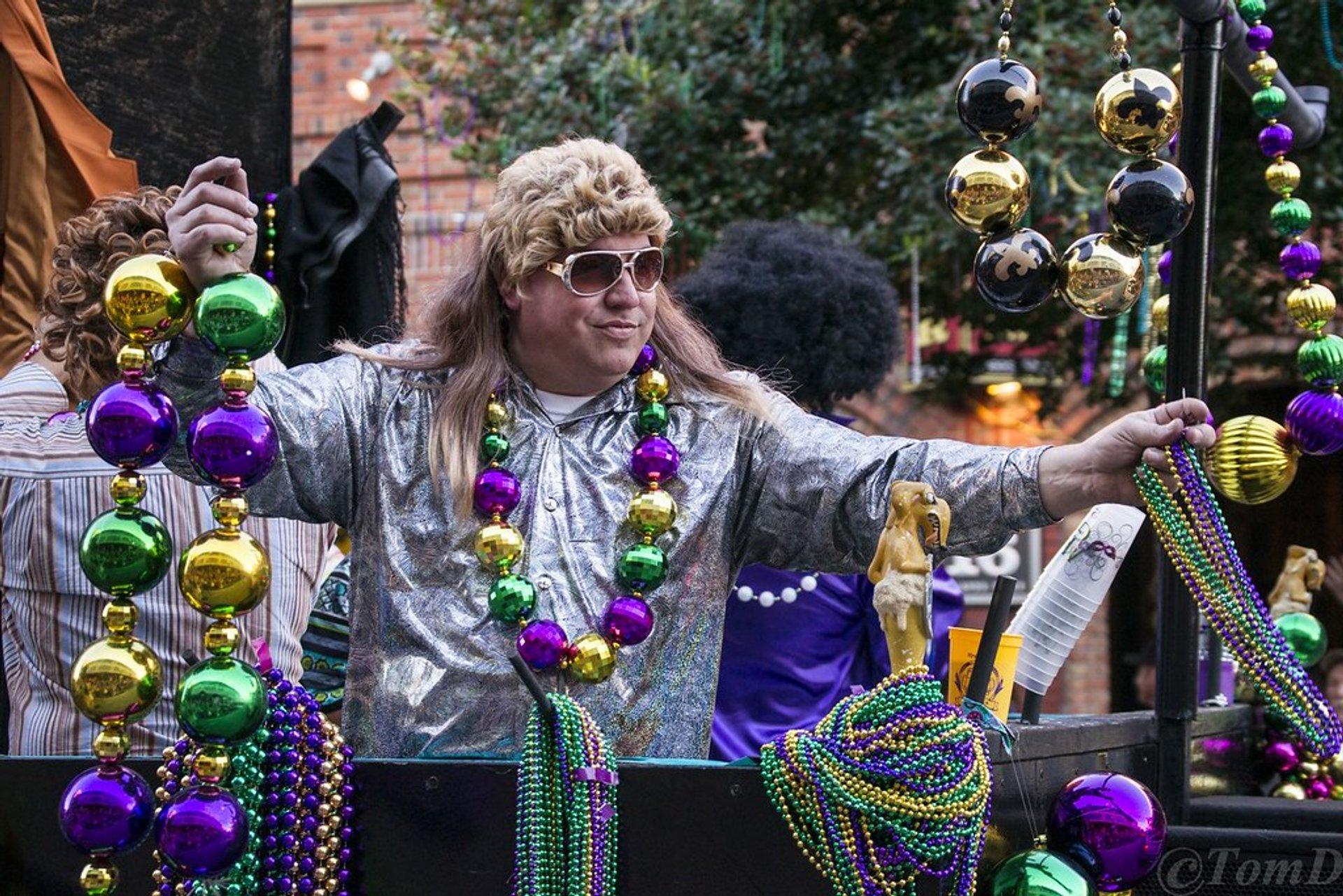 Mardi Gras parade in Pensacola, Florida 2020