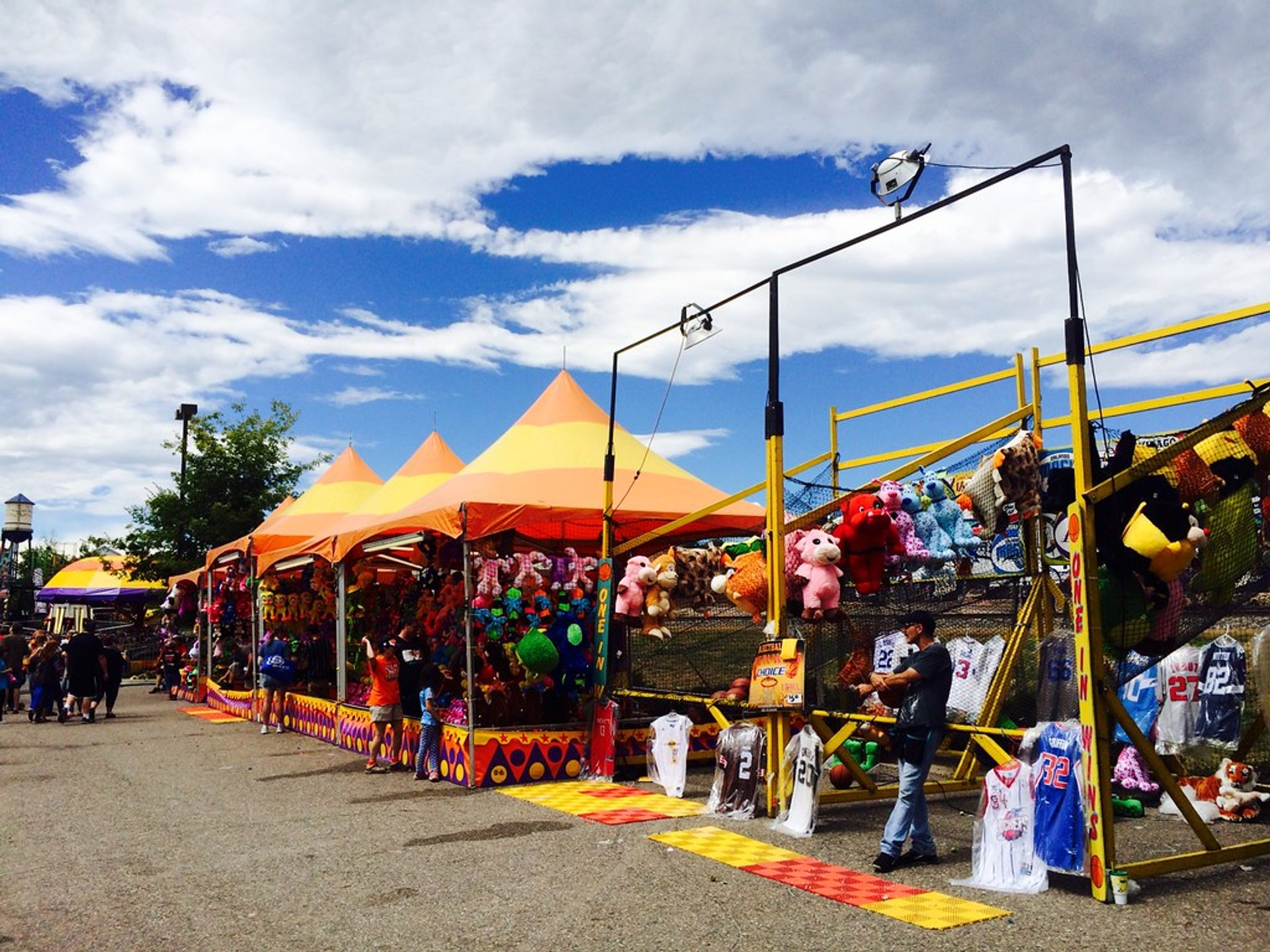 Game booths at Arvada Harvest Festival 2020