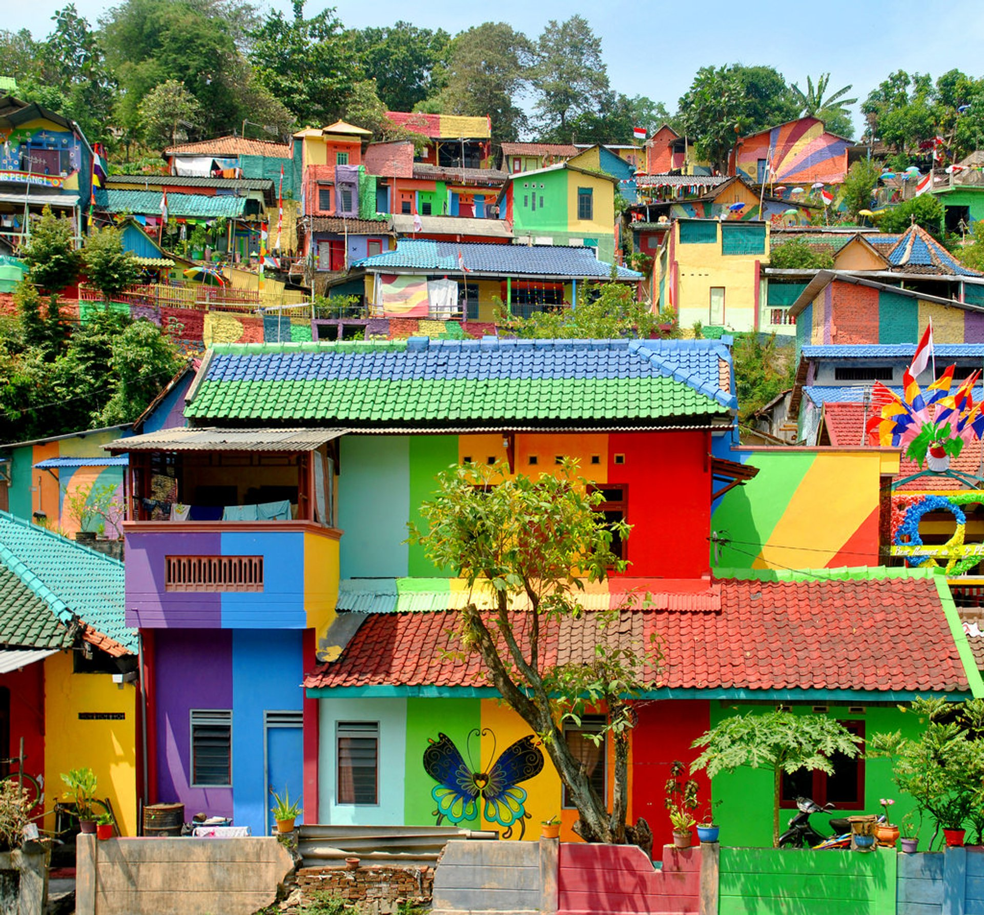 Best time for Rainbow Village (Kampung Pelangi) in Java 2019 & Map
