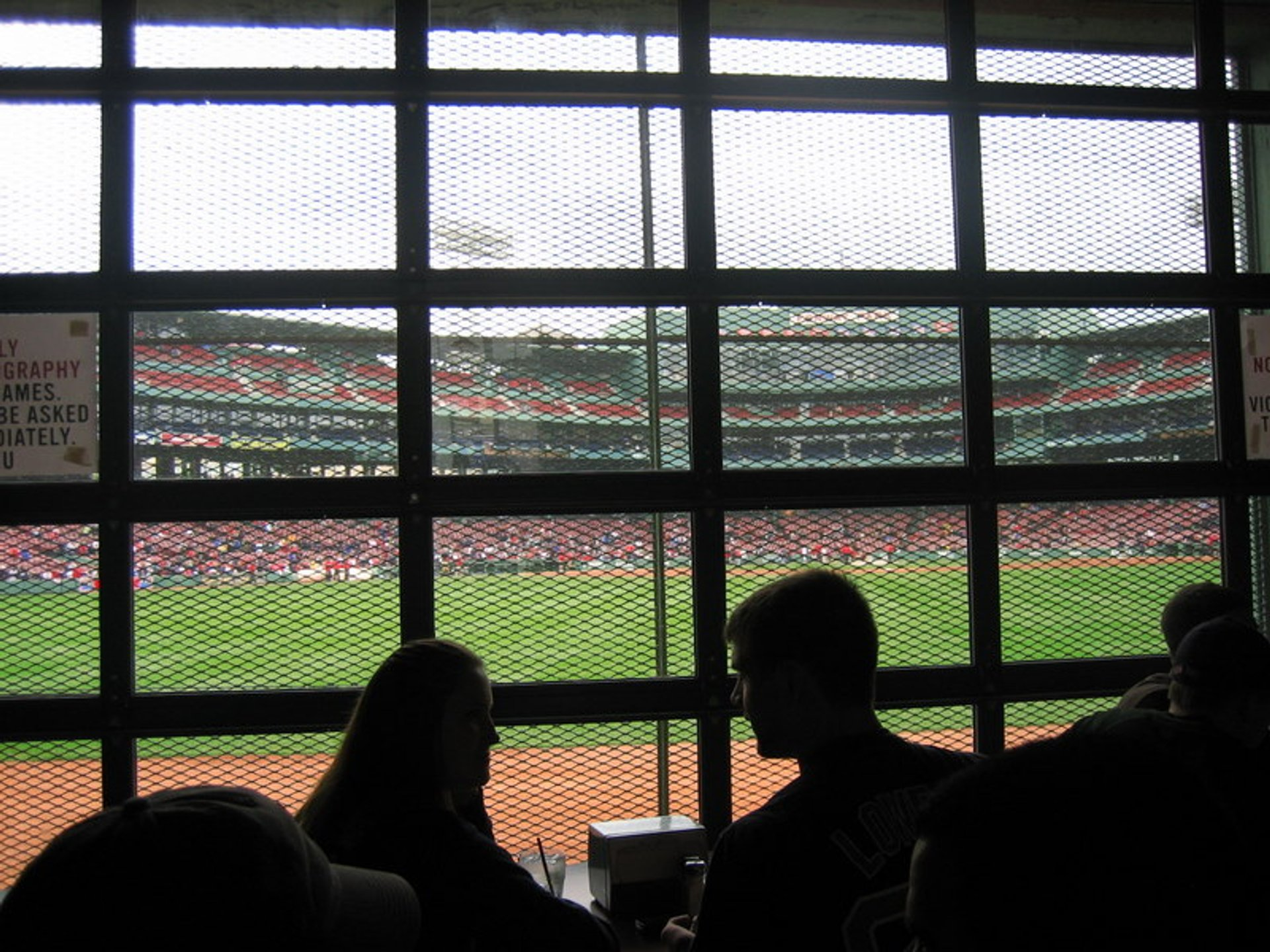 The view from the Bleacher Bar 2020