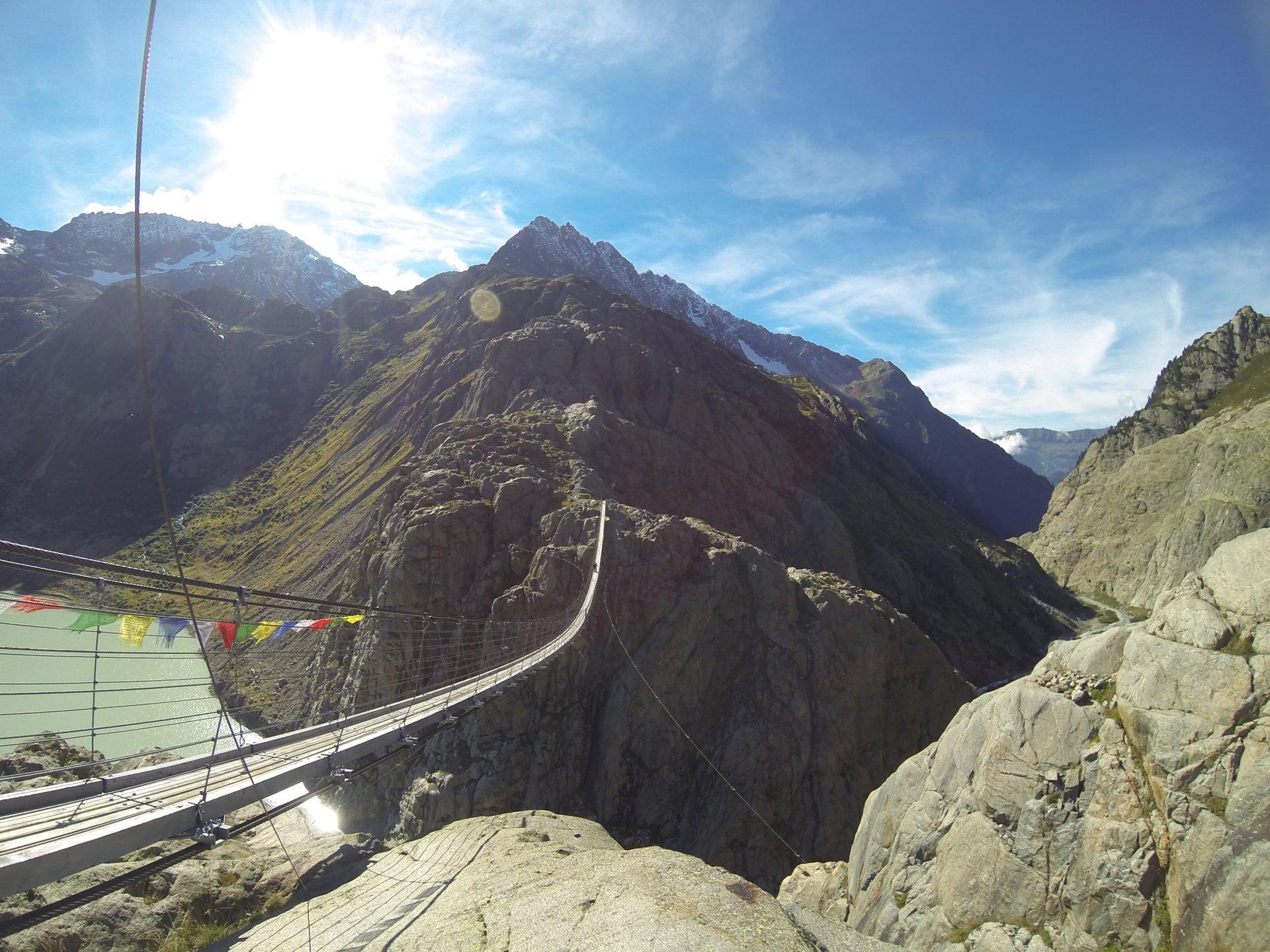The Trift Bridge in Switzerland - Best Season 2019