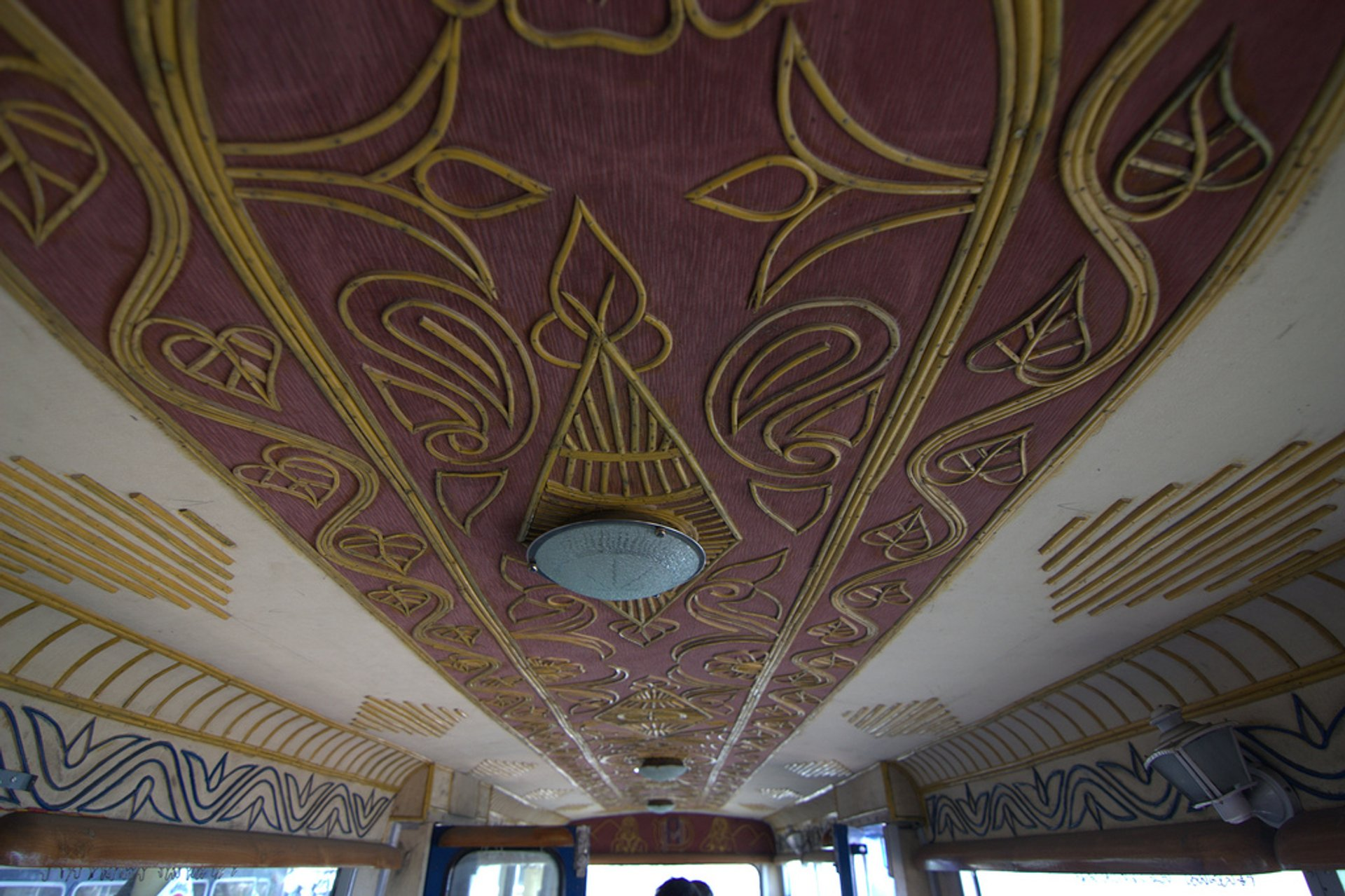 Decorative ceiling of the 'toy train' 2019