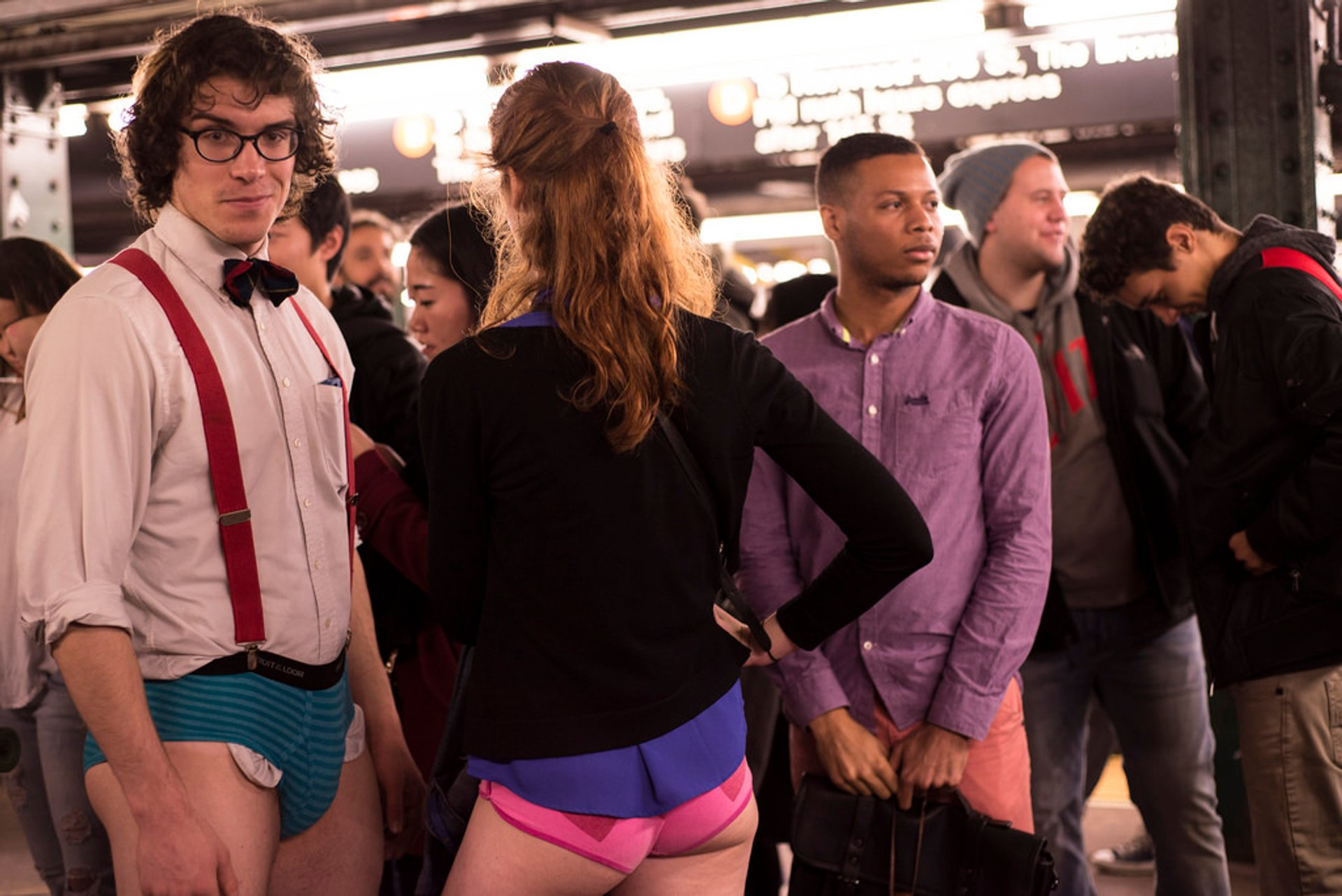 No Pants Subway Ride in New York - Best Season