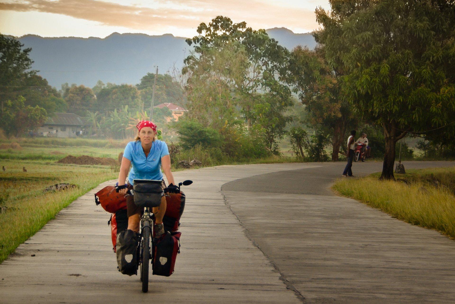 Cycling near Vigan, Philippines