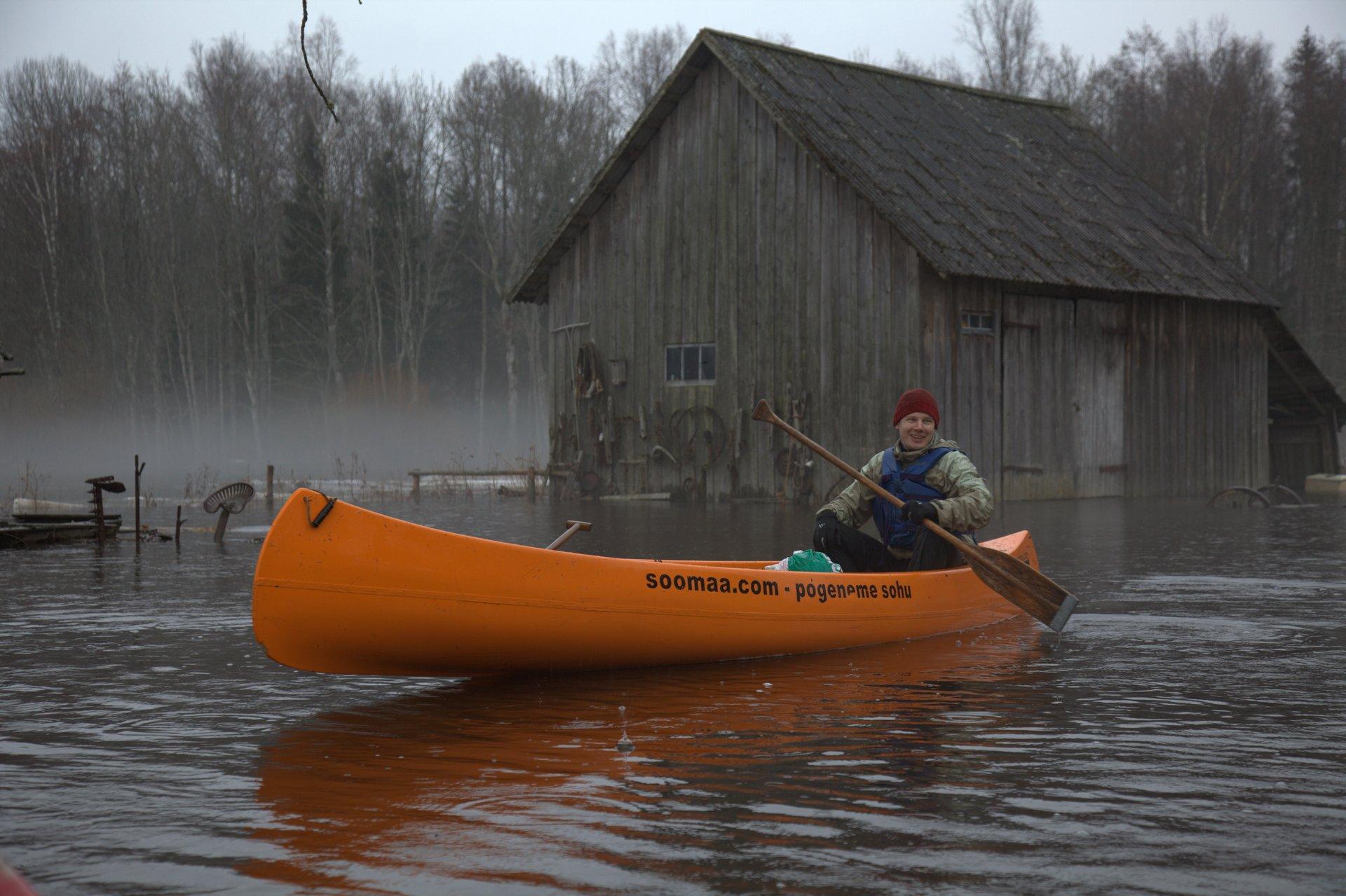 Soomaa snowmelt floods 2020