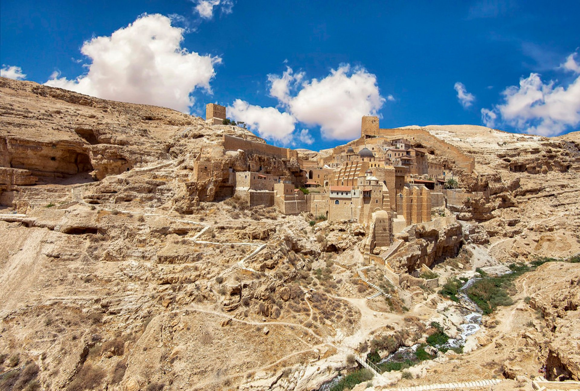 Mar Saba is an Eastern Orthodox Christian monastery overlooking the Kidron Valley at a point halfway between the Old City of Jerusalem and the Dead Sea. 2019