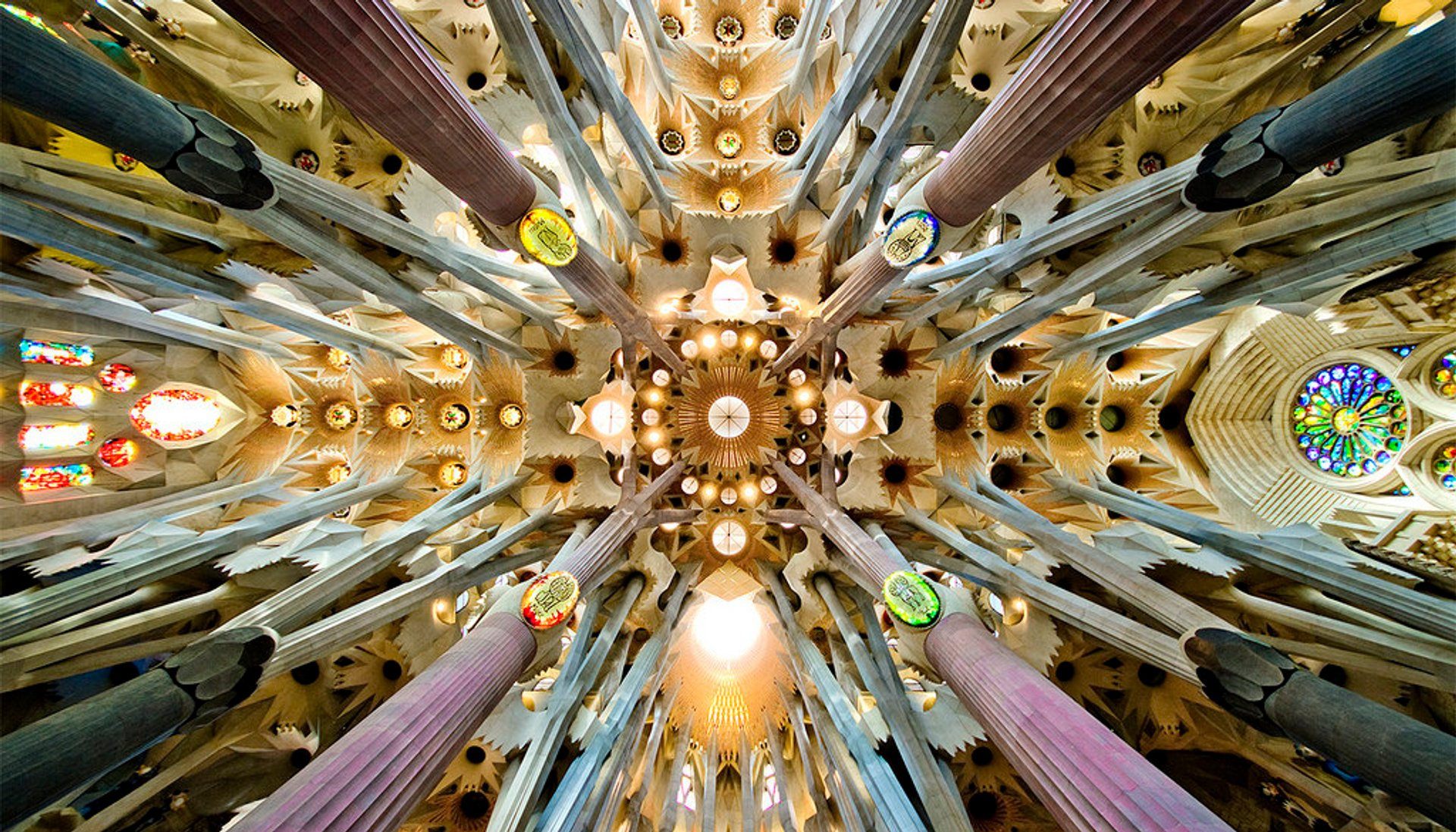 The crossing and dome of the Sagrada Família basilica 2020