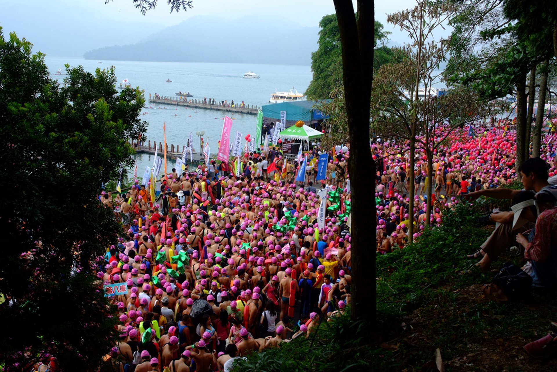 Best time to see Sun Moon Lake Swimming Carnival in Taiwan 2020