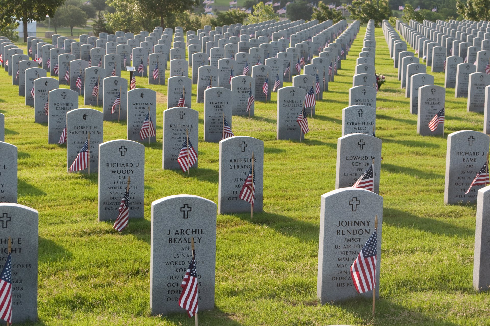Dallas-Fort Worth National Cemetery on Memorial Day 2020