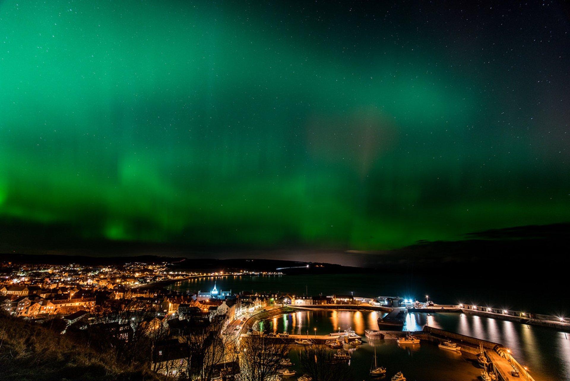 Aurora Borealis over Aberdeenshire, Scotland 2019