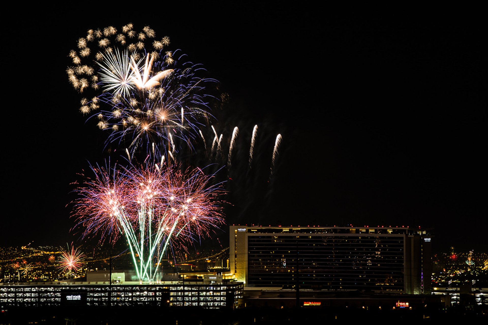 Independence Day Fireworks over Red Rock Casino 2020