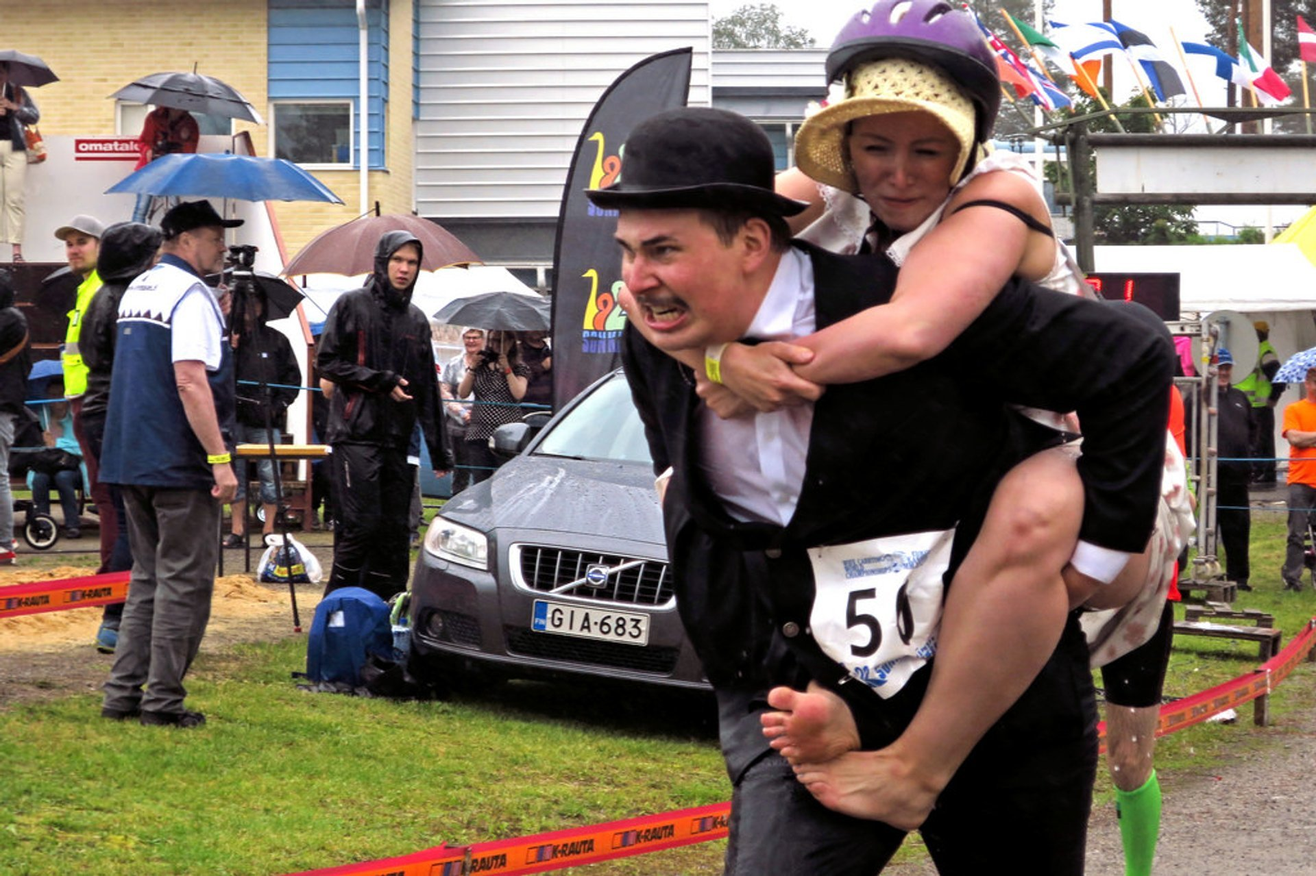 Best time for Wife Carrying World Championships in Finland 2020