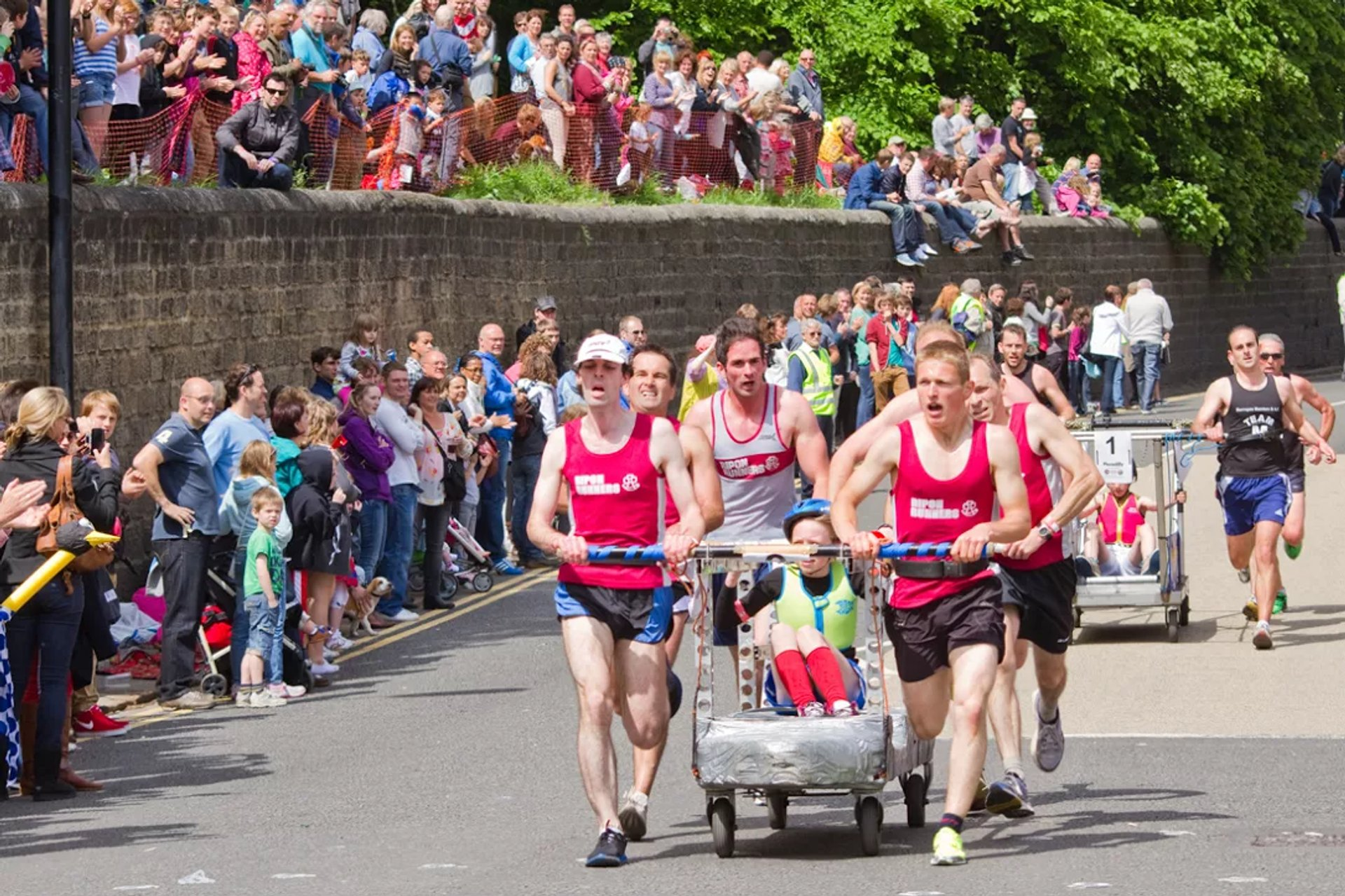 Best time for Knaresborough Bed Race in England 2019