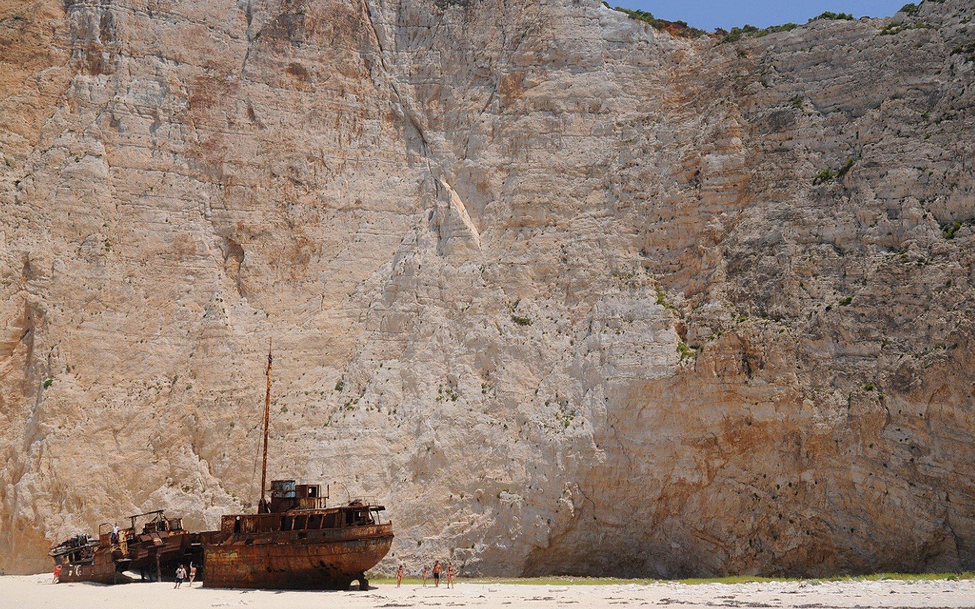 Navagio Shipwreck Beach in Greece - Best Season 2019