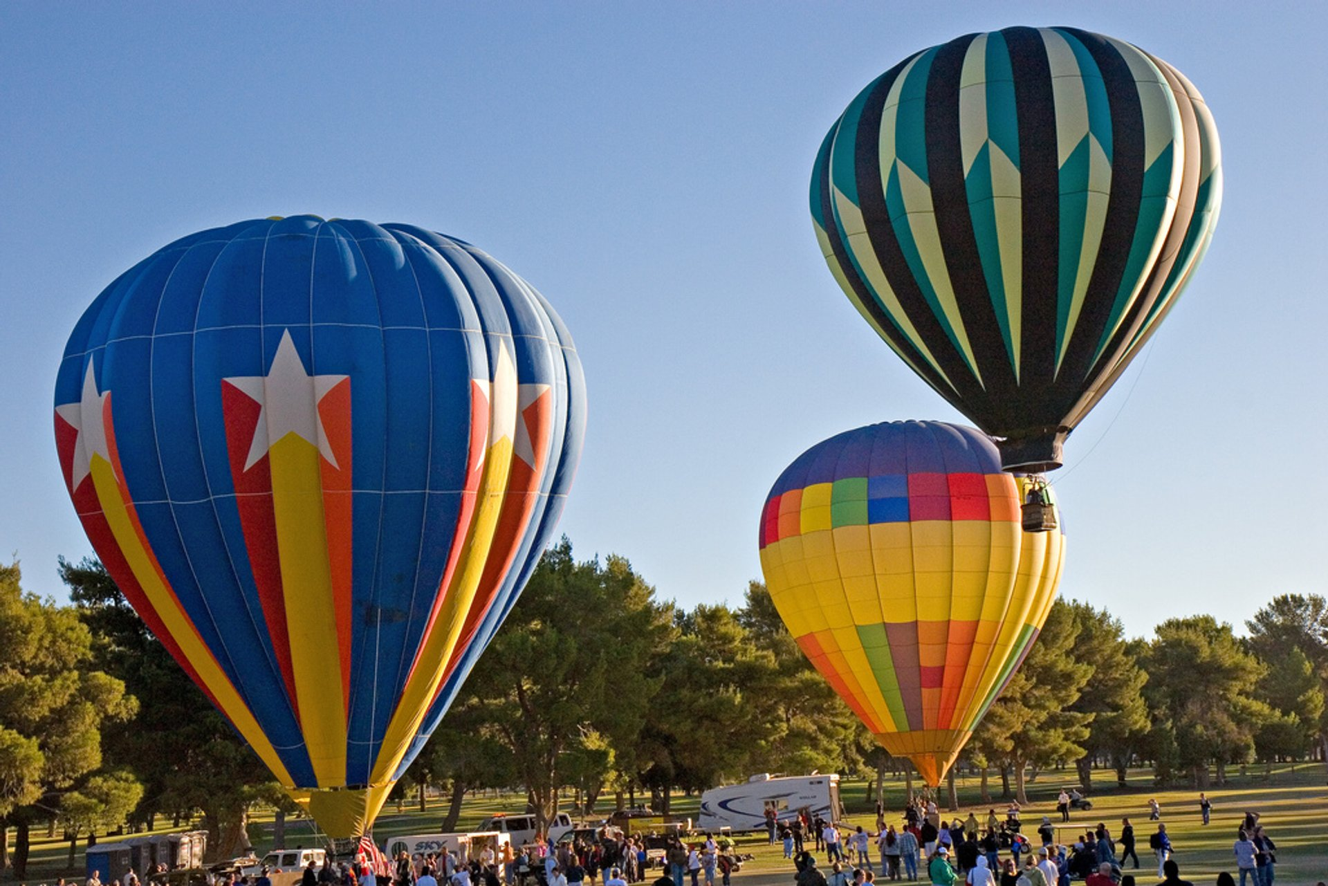 Best time for Sunset Hot Air Balloon Rides in Las Vegas